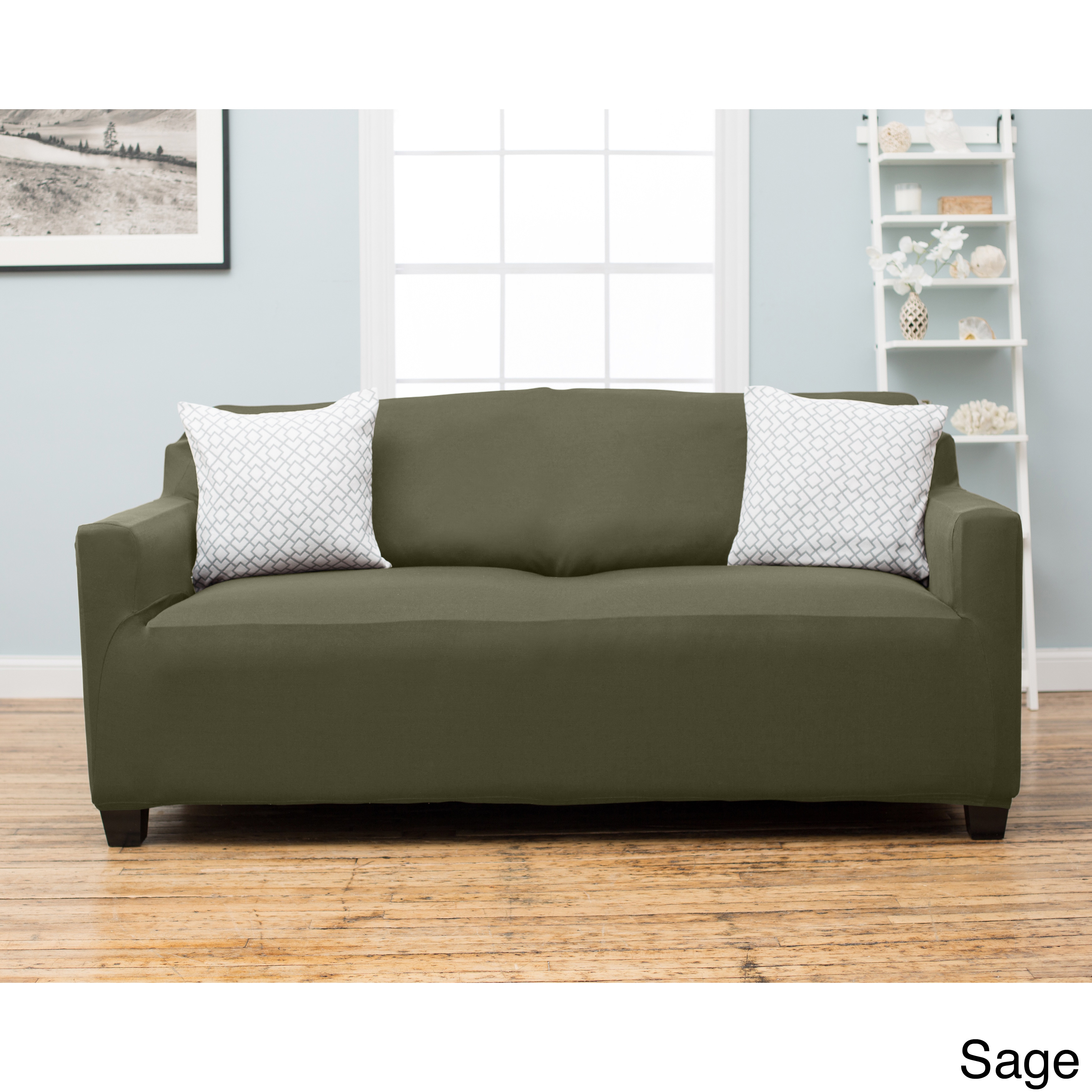 Home Fashion Designs Dawson Collection Twill Form Fit Sofa Slipcover On Free Shipping Orders Over 45 10898238