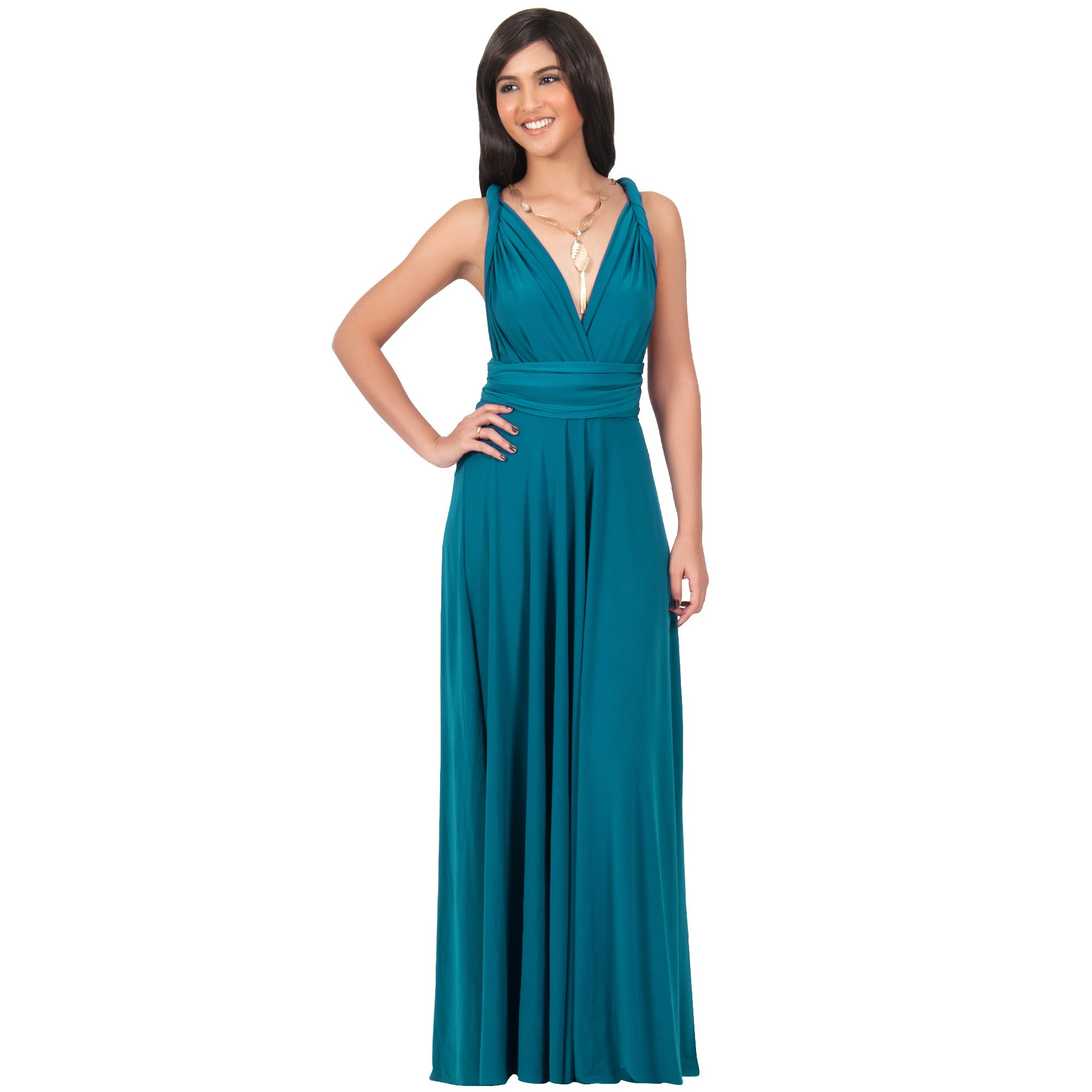 Shop KOH KOH Womens Bridesmaid Convertible Wrap Long Elegant ...