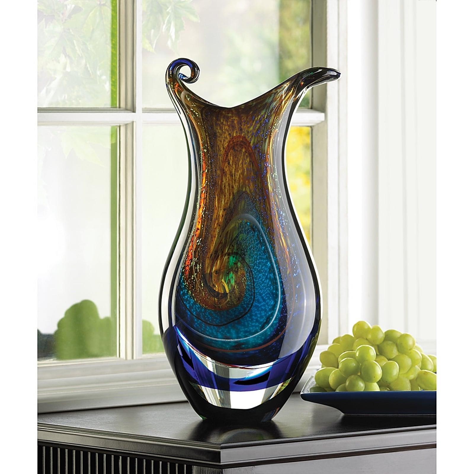 Tiffany swirl glass vase free shipping today overstock tiffany swirl glass vase free shipping today overstock 17932343 reviewsmspy