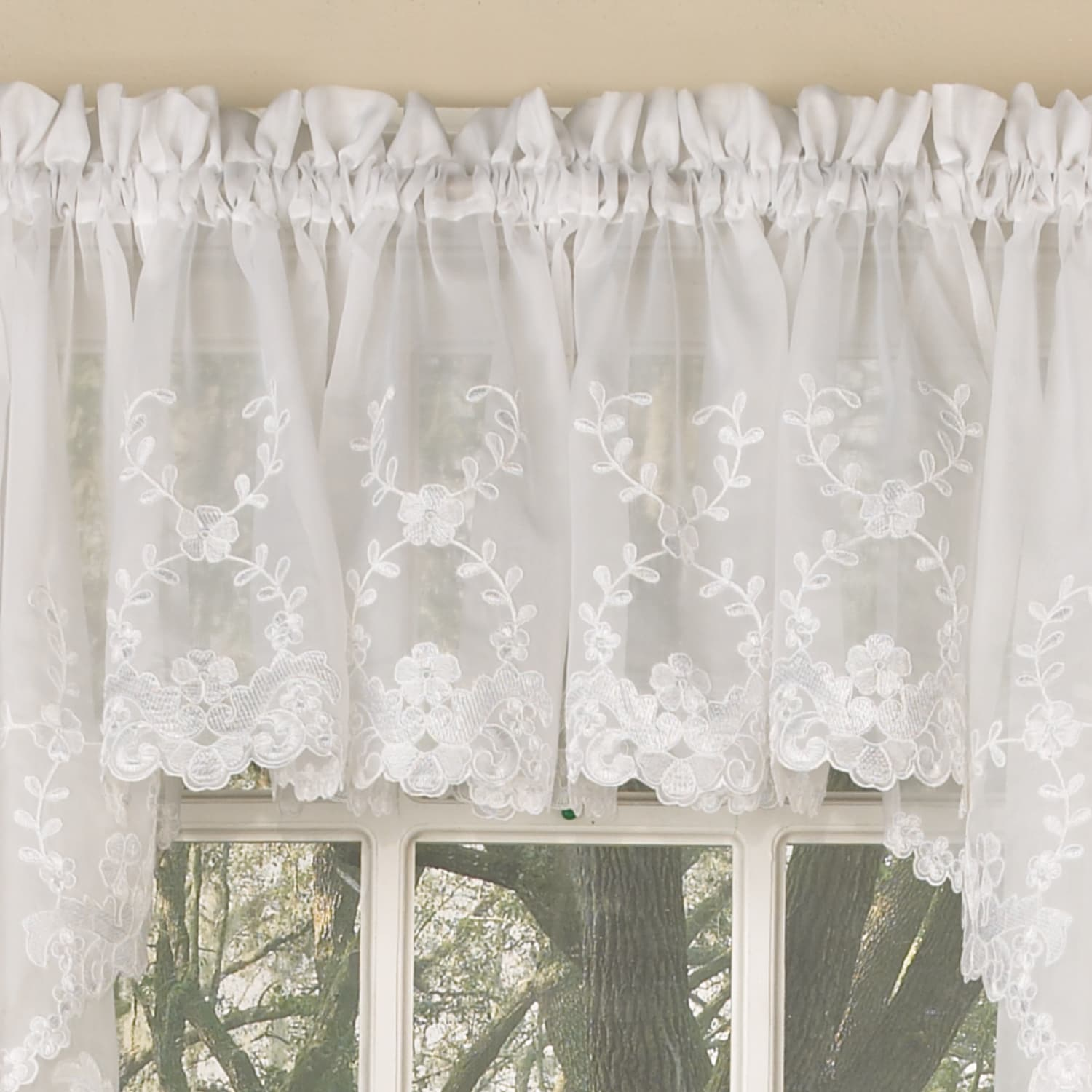 cafe in curtain valance lace bise alliance inc valence htm height macrame curtains brise