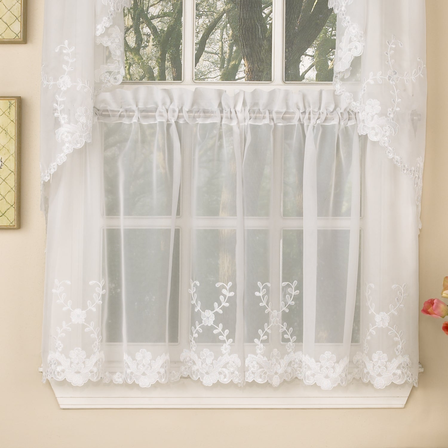 drapes swag with eyelet sheer light green bedroom valance curtains itm valances door curtain blackout pleats net