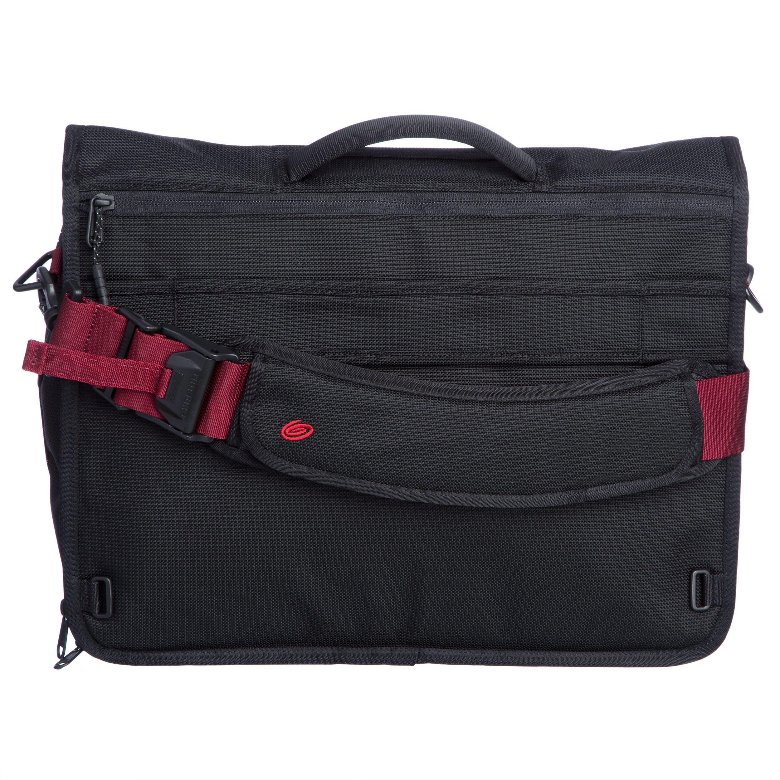 Timbuk2 Small Black Red Devil Command Messenger Bag Free Shipping Today 10900165