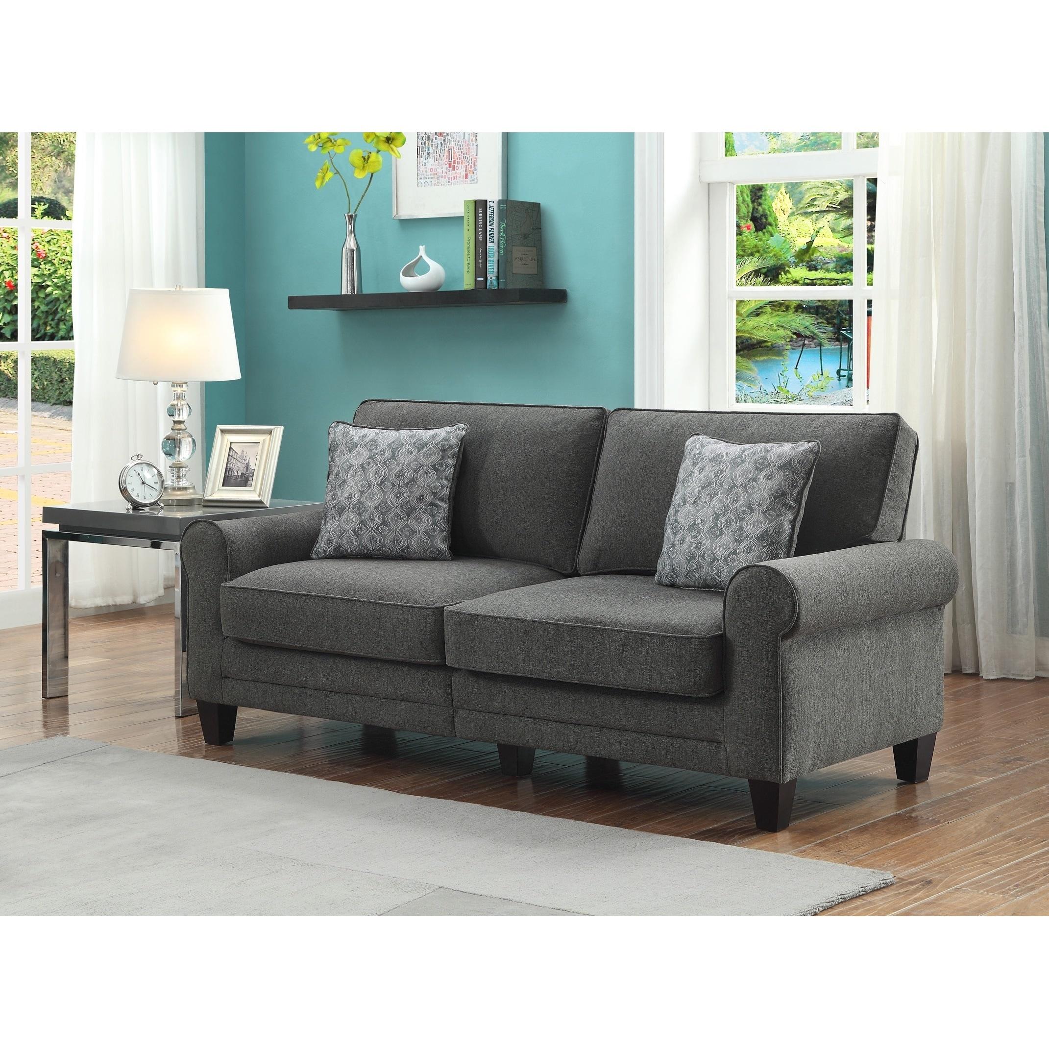 Serta RTA Somerset Collection Vivendo Grey 73-inch Sofa - Free ...