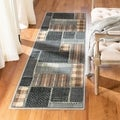 Safavieh Vintage Light Blue/ Multi Patchwork Silky Viscose Rug (2'2 x 8')