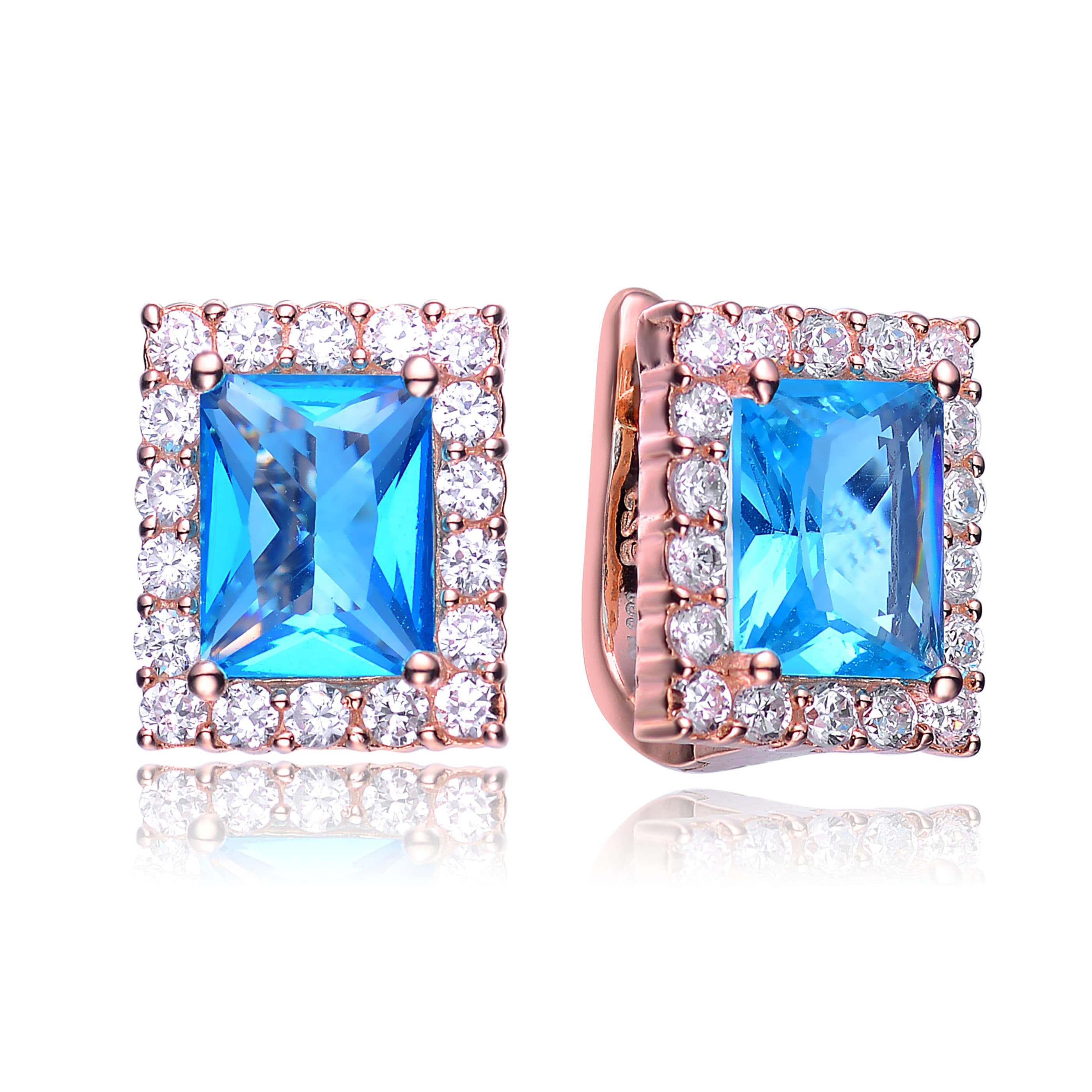 sapphire c blue diamond h earrings pave image p ctw bright