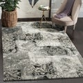 Safavieh Retro Modern Abstract Damask Cream/ Grey Distressed Rug (8' x 10')