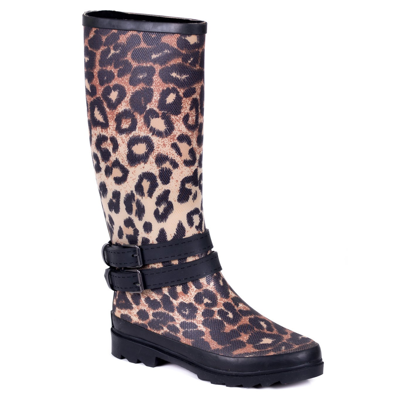 1a4b1799fdd8 Shop Forever Couture Women's Cloth Coating Leopard Print Rubber Rain Boots  - Free Shipping Today - Overstock - 10907467