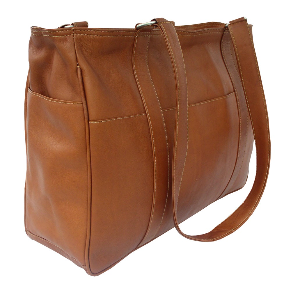 bbcd3bc97e Shop Piel Leather Small Shopping Bag - Free Shipping Today - Overstock -  10907534