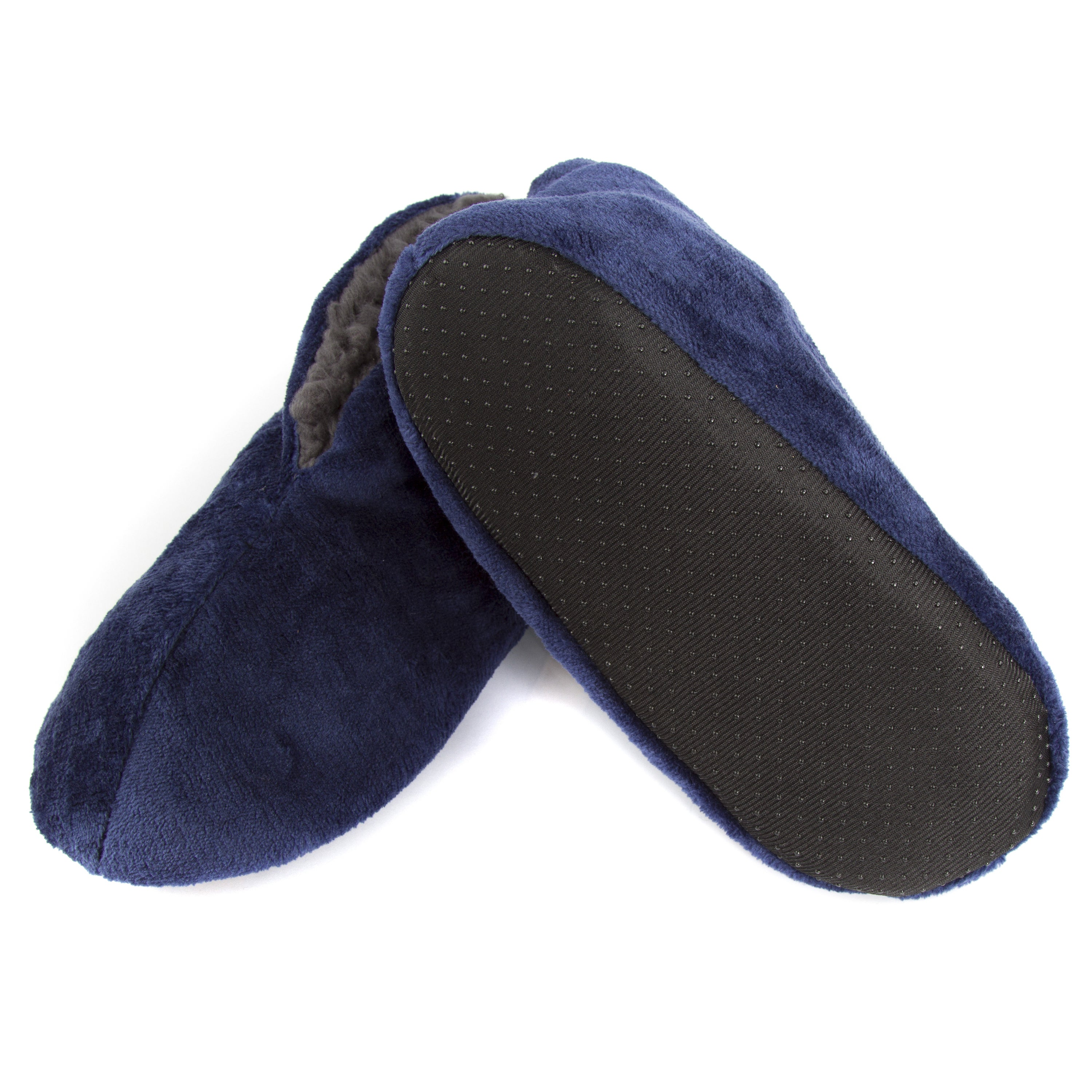 3572d99c1053 Shop Leisureland Men s Fleece Lined Cozy Bootie Slippers Solid Color - Free  Shipping On Orders Over  45 - Overstock - 10907715