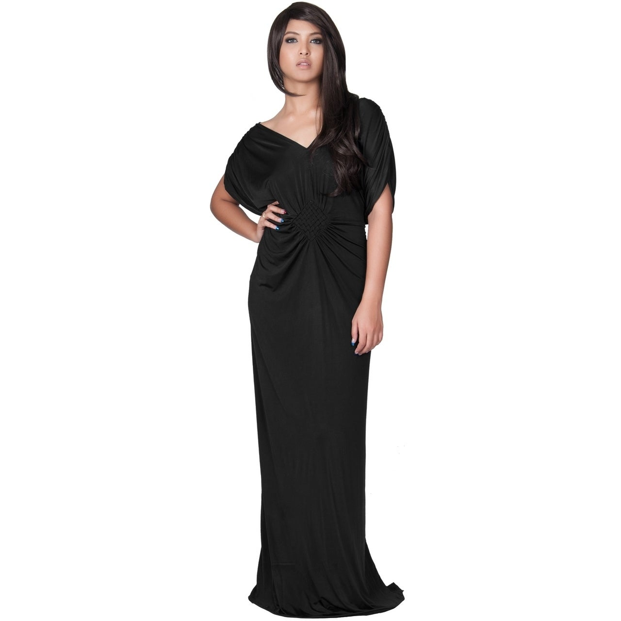 Koh Women S Grecian Inspired V Neck Evening Maxi Dress Free Shipping Today 10907776