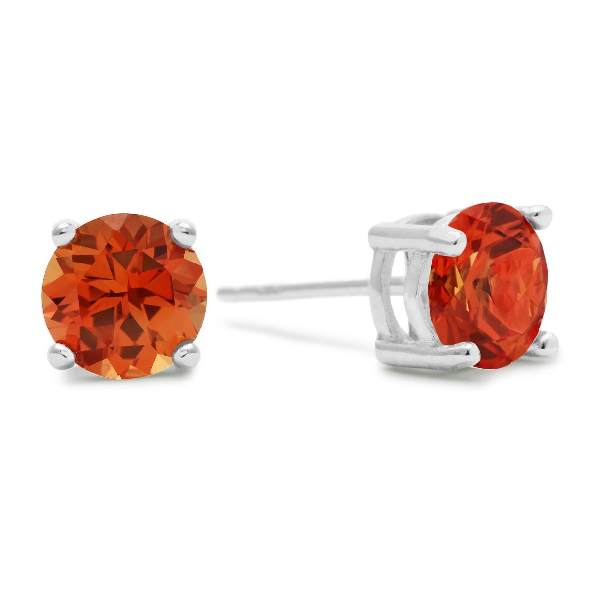 sapphire chatham eco aide padparadscha earrings light friendly jewelry products