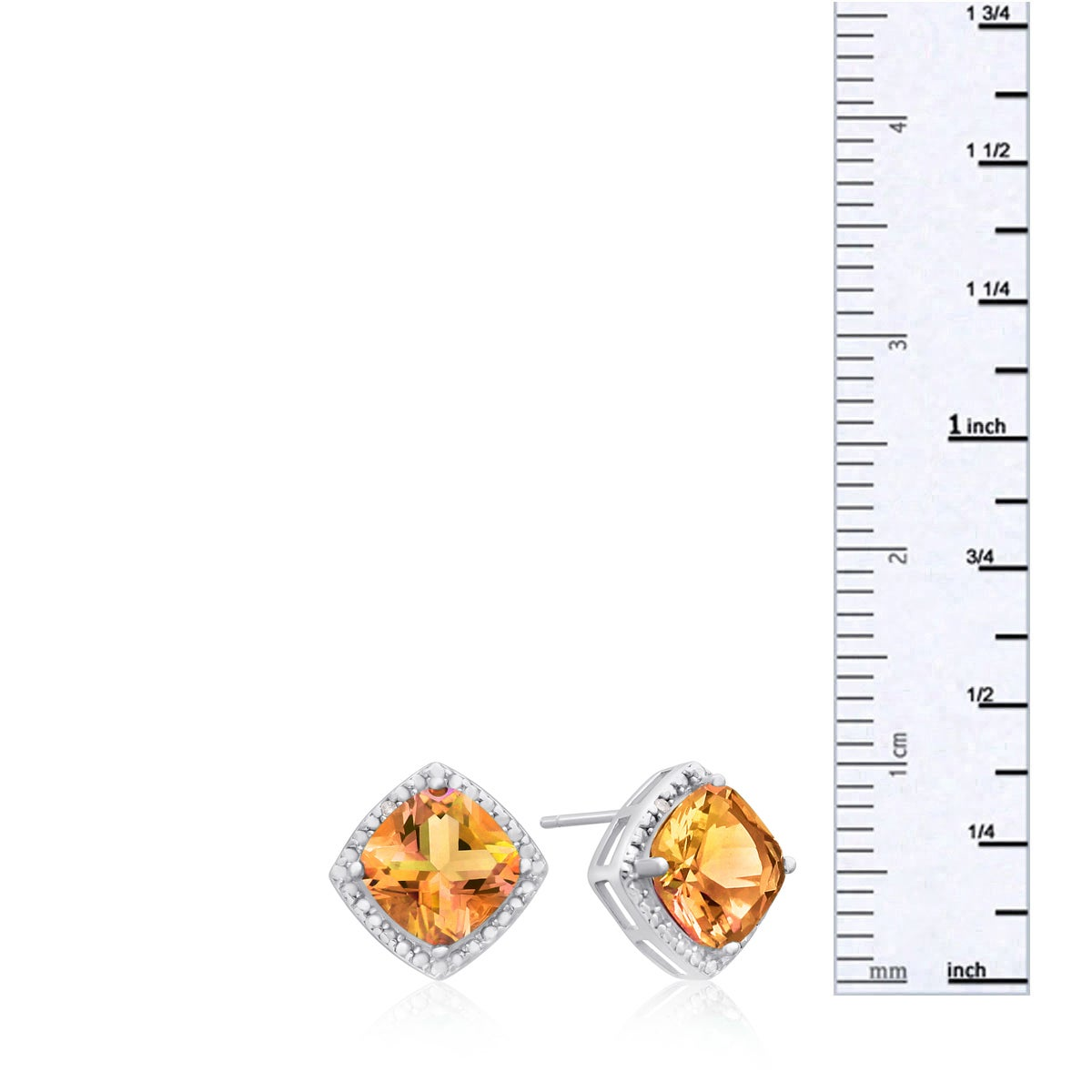 platinum sapphire item satellite earrings padparadscha