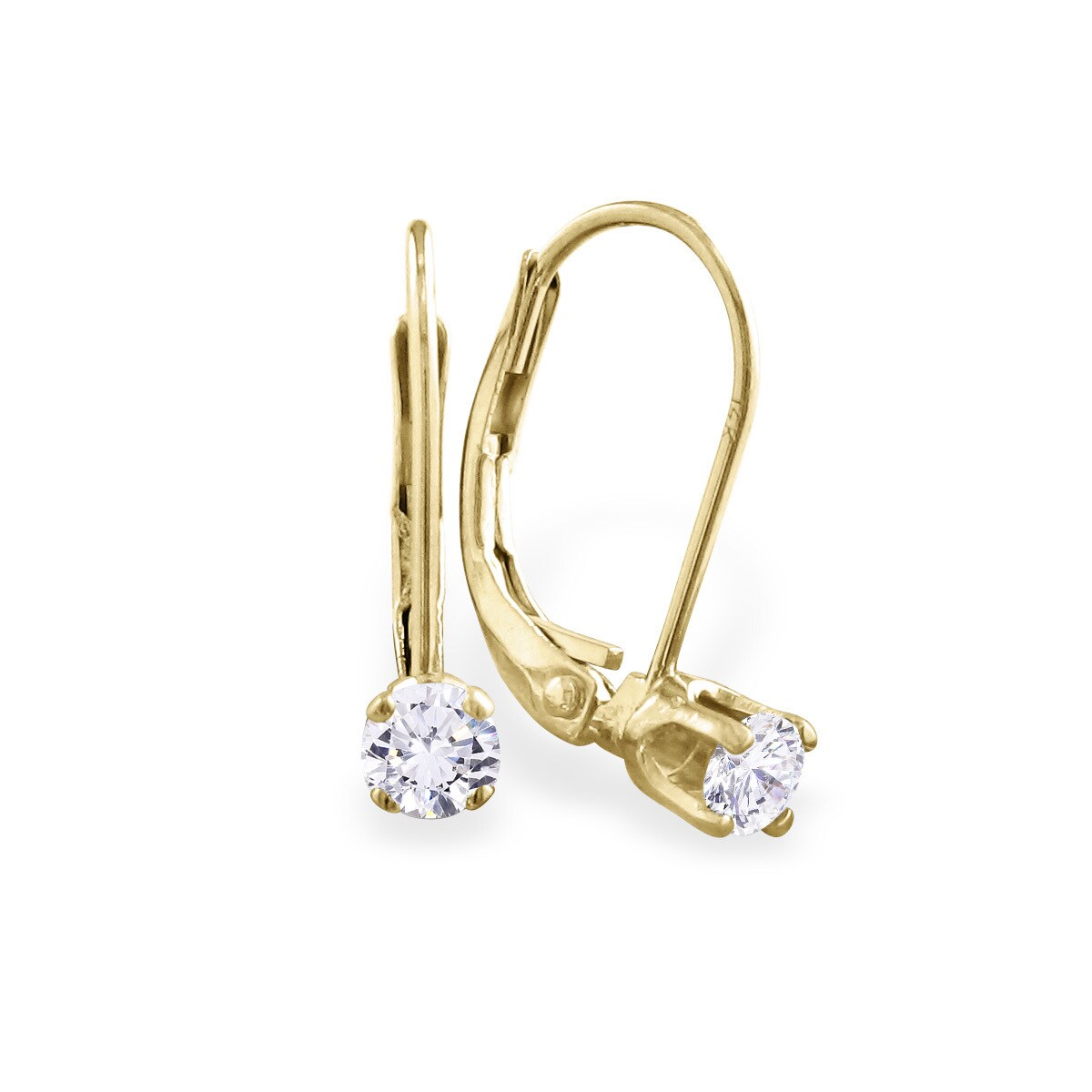 earrings zirconia goldberg white en with gold vintage carat