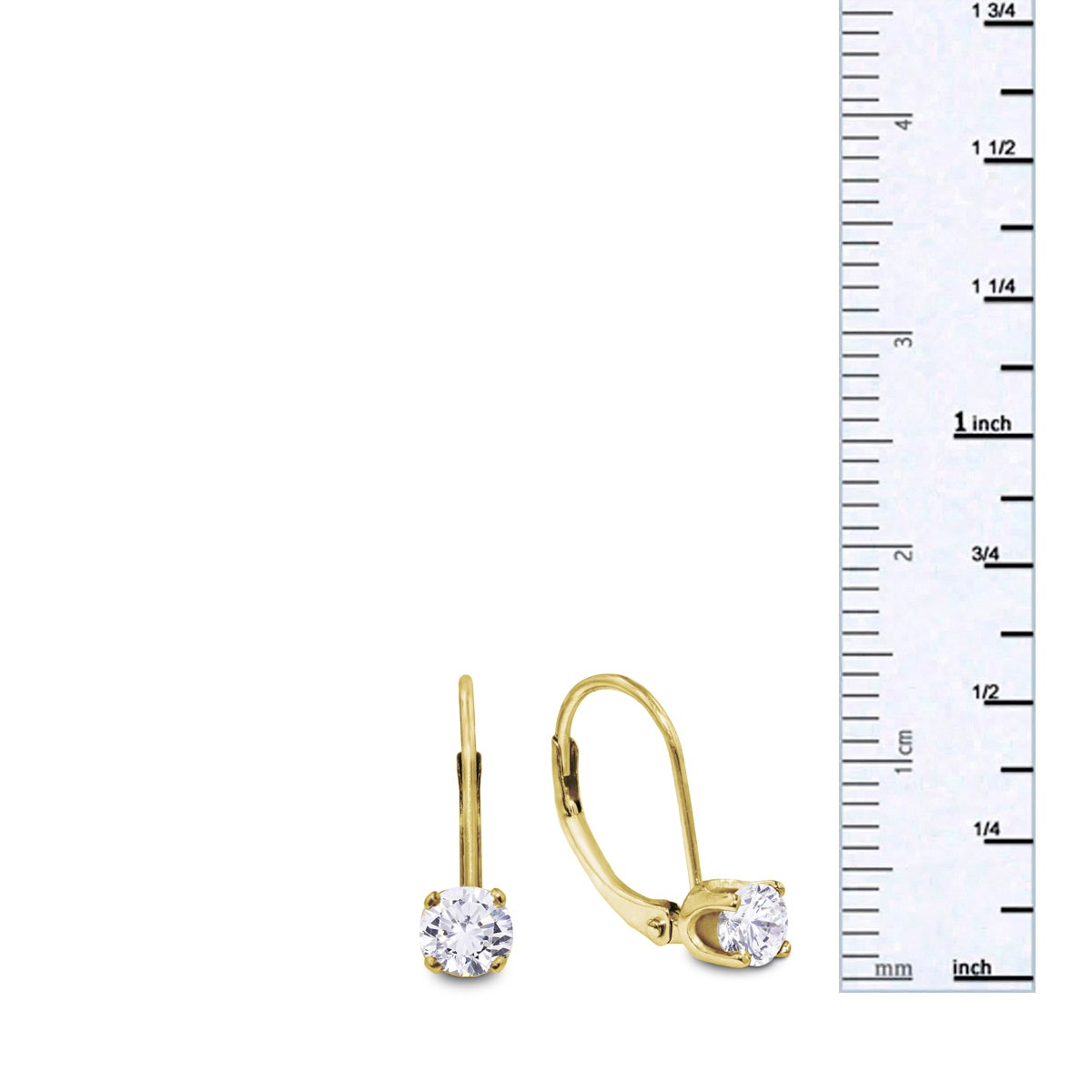 1 2 Carat Diamond Leverback Earrings In 14 Karat Yellow Gold J K I2 I3 On Free Shipping Today 10909229