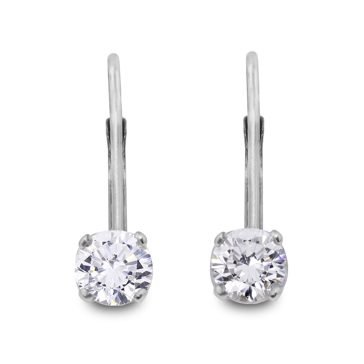1 2 Carat Diamond Leverback Earrings In 14 Karat White Gold J K I2 I3 On Free Shipping Today 10909230