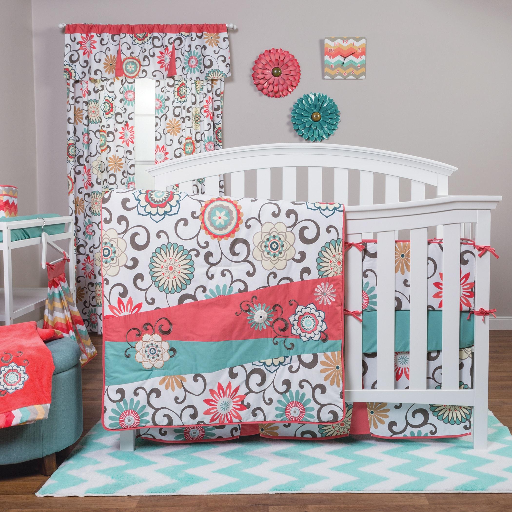Trend Lab Waverly Pom Pom Play 4-piece Crib Bedding Set - Free Shipping  Today - Overstock.com - 17941472