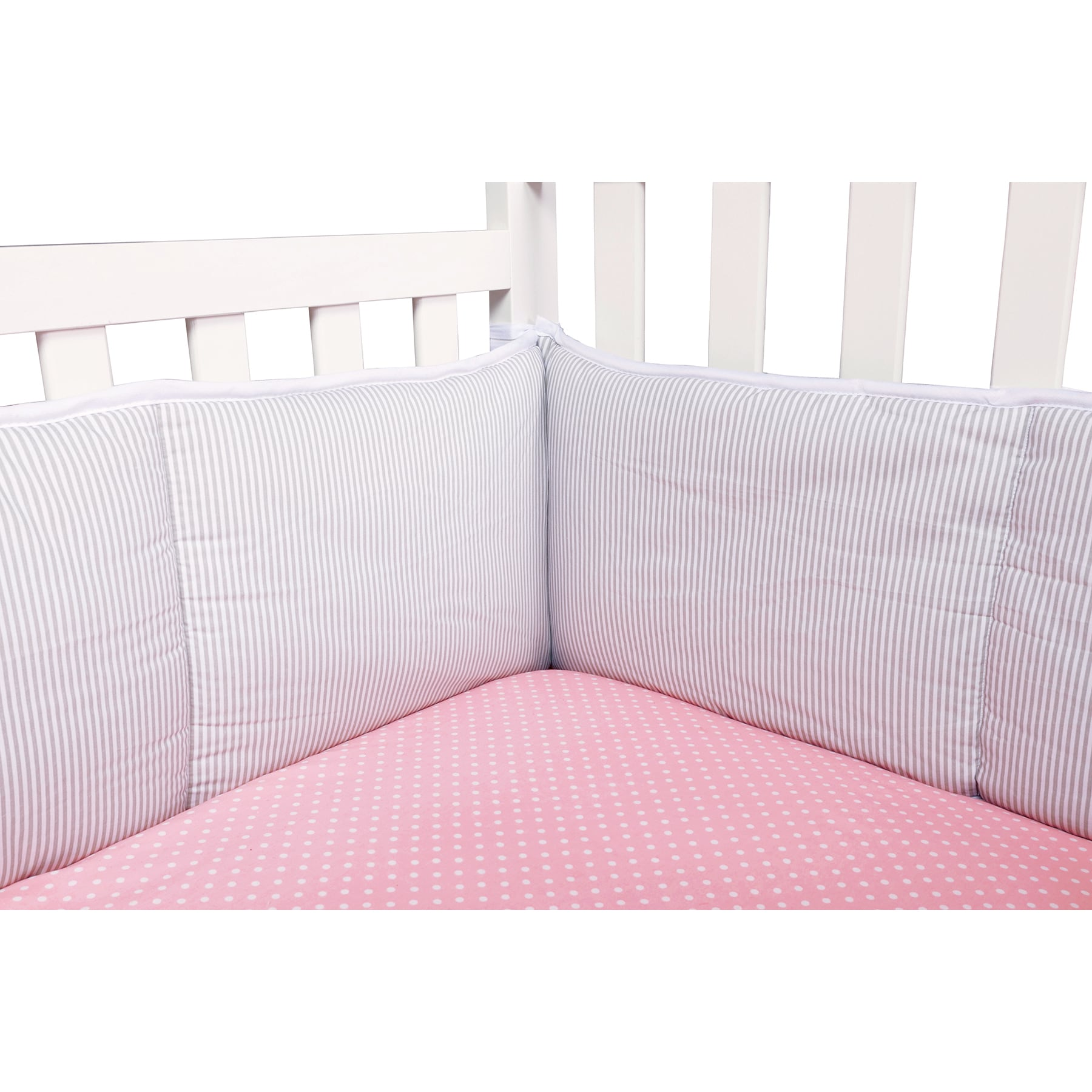 cribshield crib full white bumpers mesh dp liner amazon breathablebaby com baby coverage