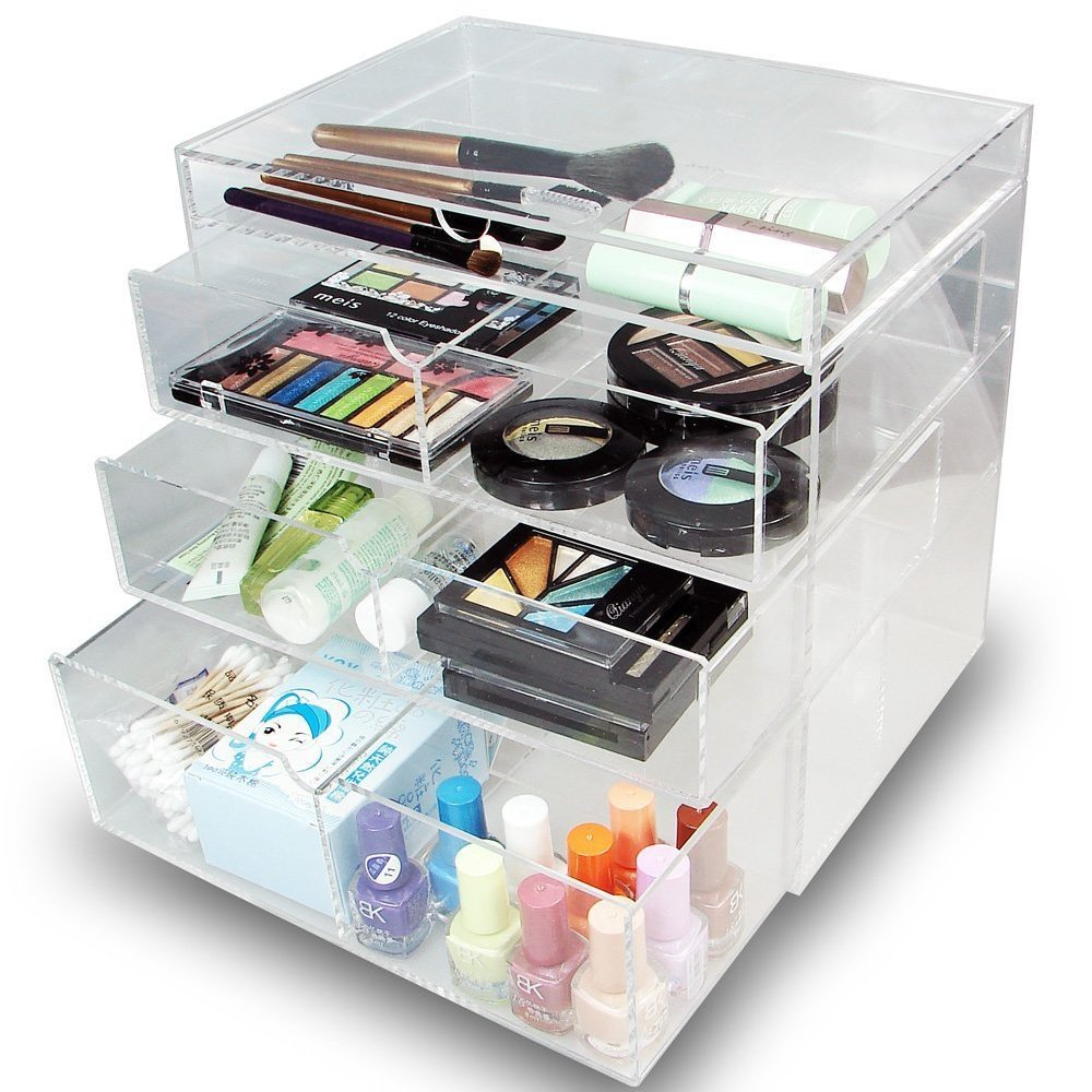 Shop Ikee Design Acrylic 4 Drawer Cosmetic Organizer   Free Shipping On  Orders Over $45   Overstock.com   10909937
