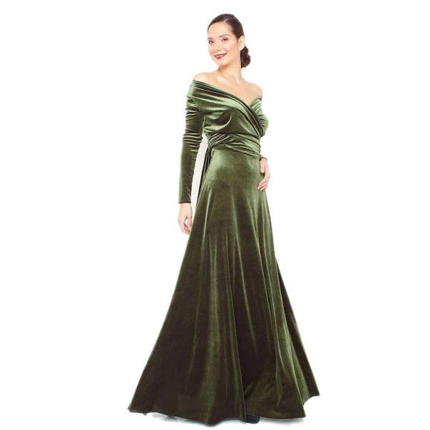 484d521f2090 Shop Women s Velvet Long Sleeve Convertible Front-to-Back Maxi Dress  Cocktail Gown - Free Shipping Today - Overstock - 10913696