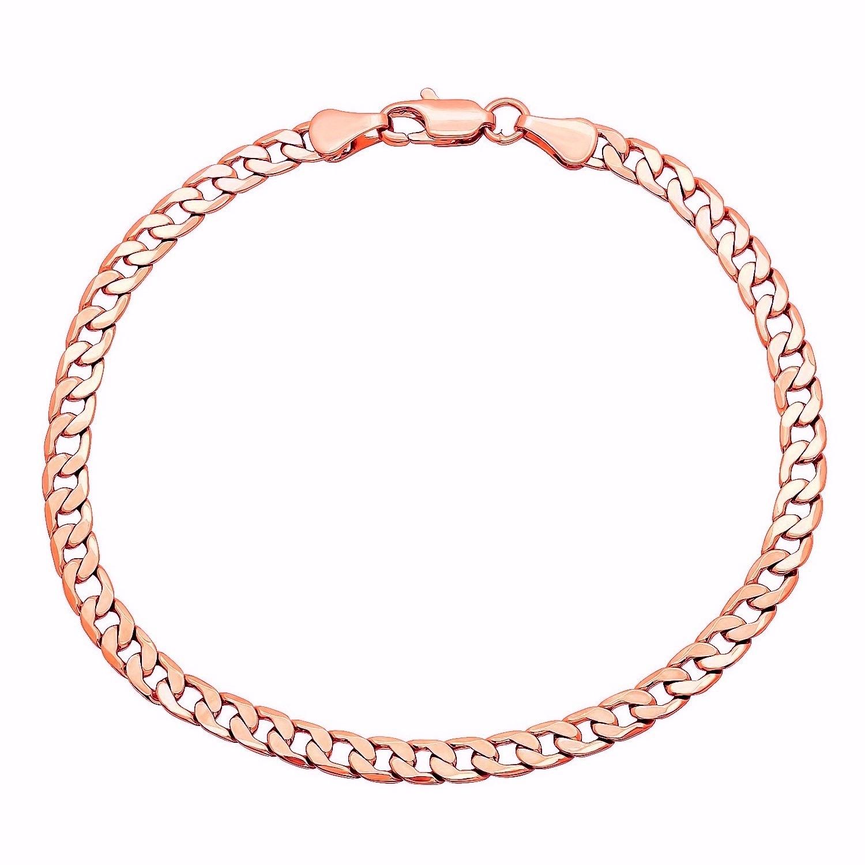 d3687f60ee338 Pori Men's 14k Gold Cuban Chain Bracelet