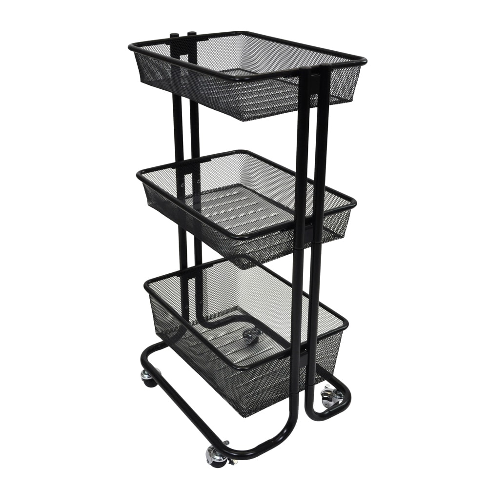 Offex Home Storage Kitchen Utility Rolling Cart