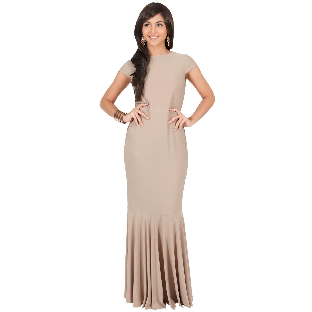 e5df1f03e0f6 Shop KOH KOH Women s Cap Sleeve Mermaid Cocktail Dress - Free ...