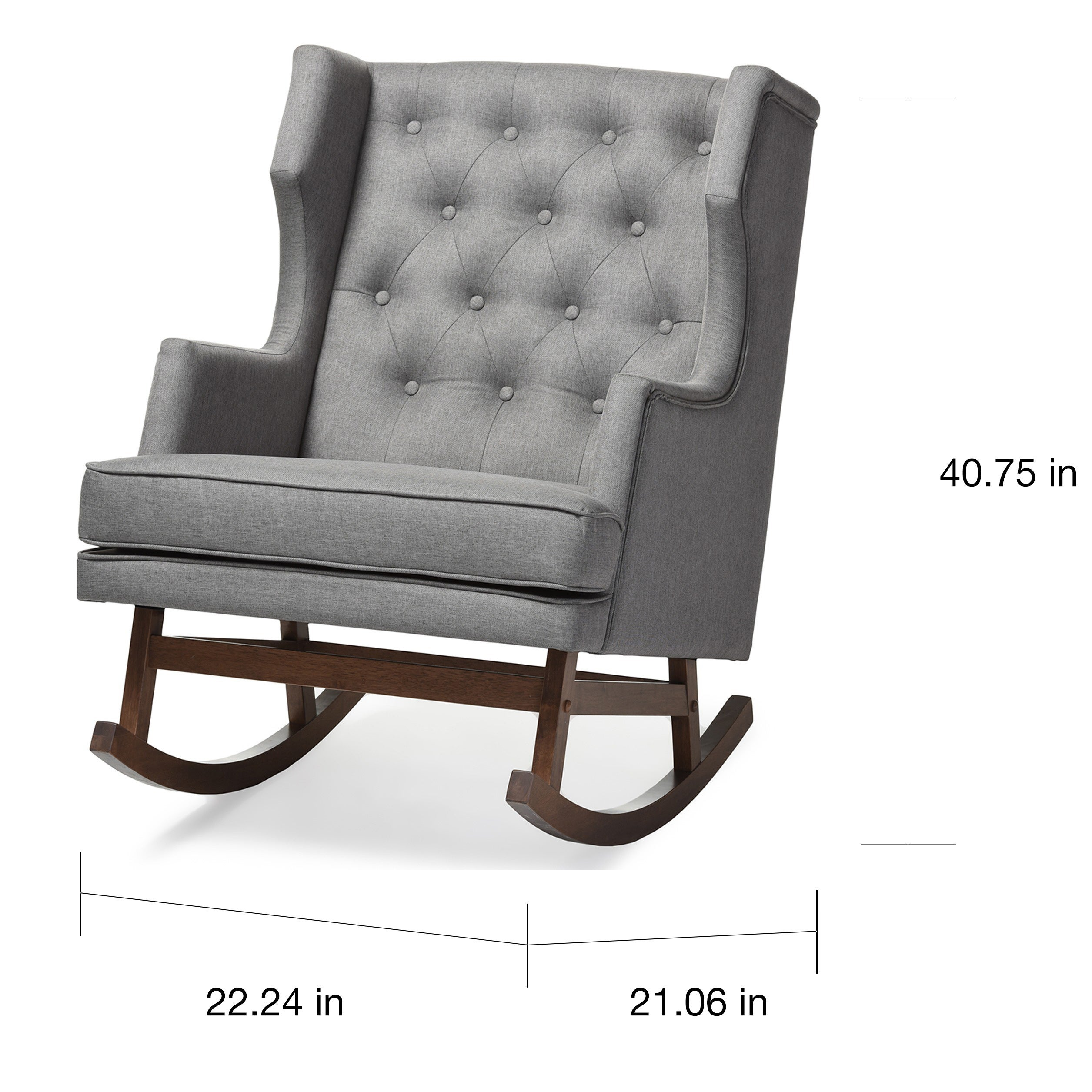 Shop Gracewood Hollow Lu0027Engle Contemporary Grey Fabric Rocking Chair   Free  Shipping Today   Overstock.com   20543641
