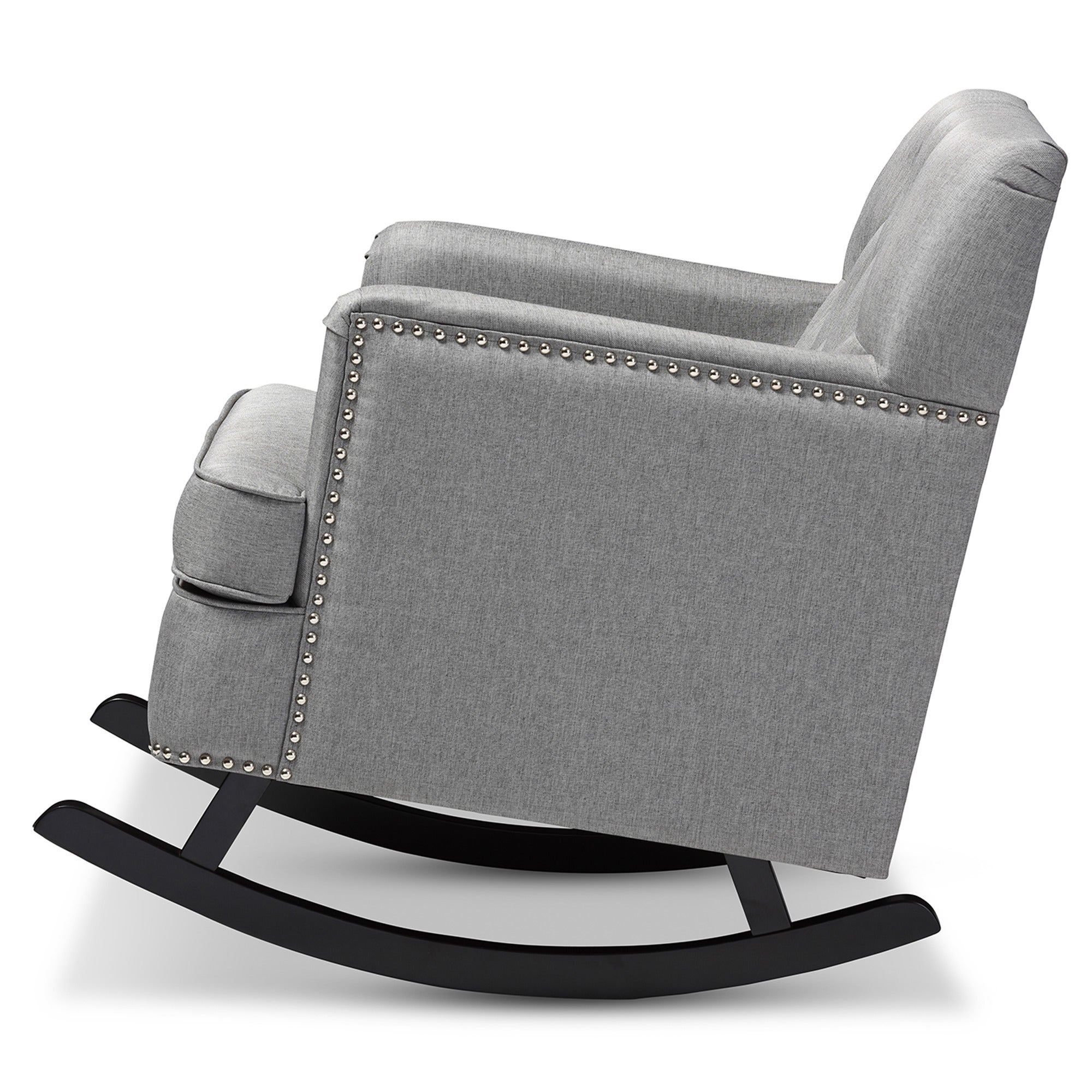 Contemporary Fabric Rocking Chair By Baxton Studio Free Shipping Today 10915336