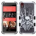 Insten Black/ White Sword  Skull Tuff Hard PC/ Silicone Dual Layer Hybrid Rubberized Matte Case Cover For HTC Desire 626/ 626s