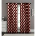 VCNY Sorrento Metallic Window Curtain Panel Pair