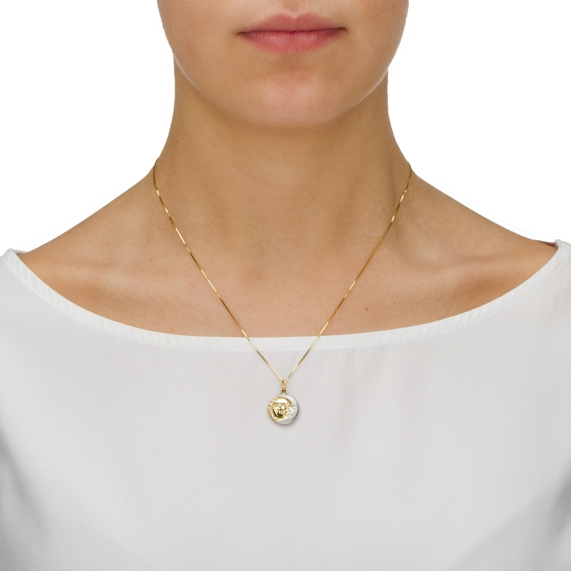 in moon di gregorio lia pendant single pearl sunmoon yellow jewels taglio necklace n sun gold