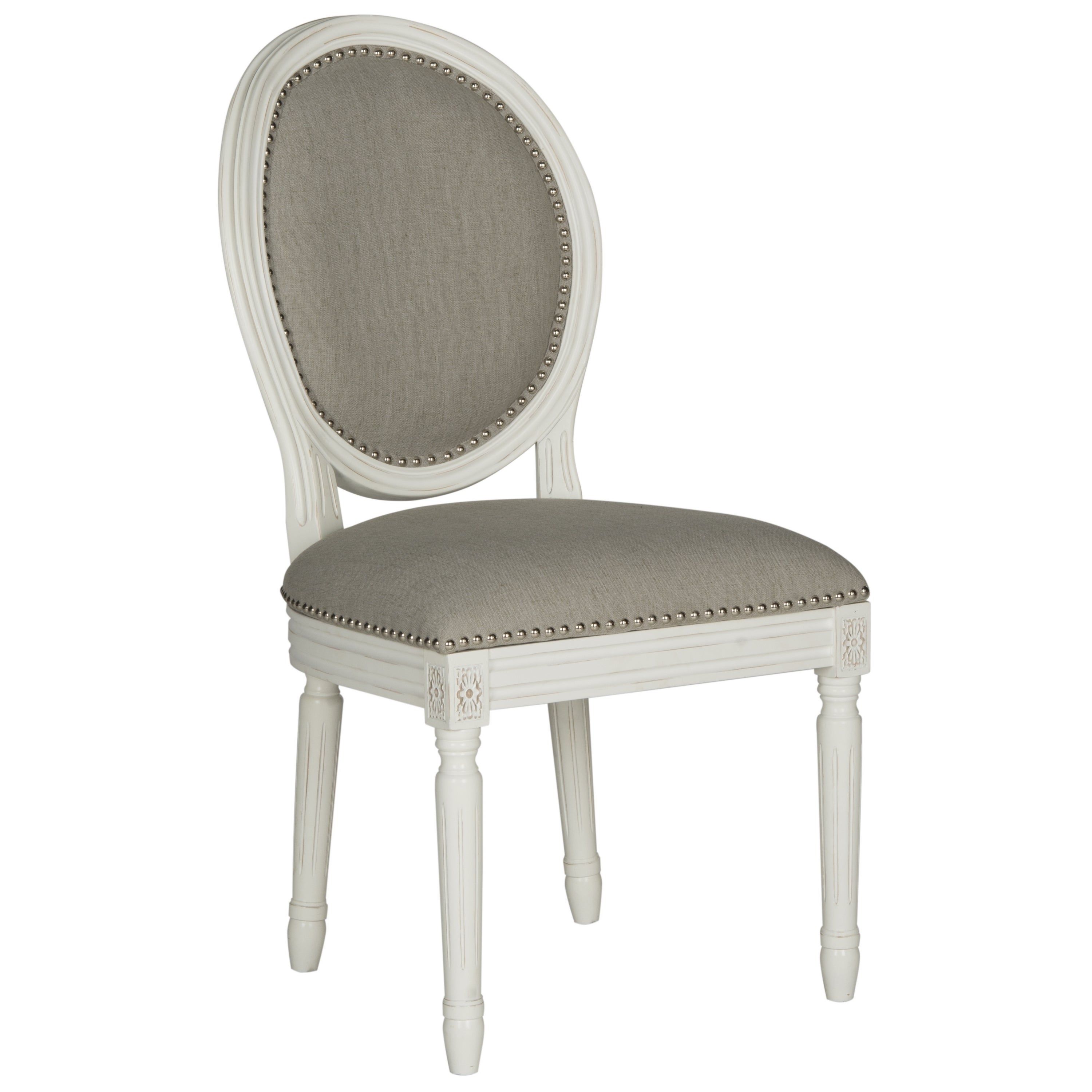 safavieh old world dining holloway light grey oval dining chairs (set of ) free shipping today  overstockcom  . safavieh old world dining holloway light grey oval dining chairs