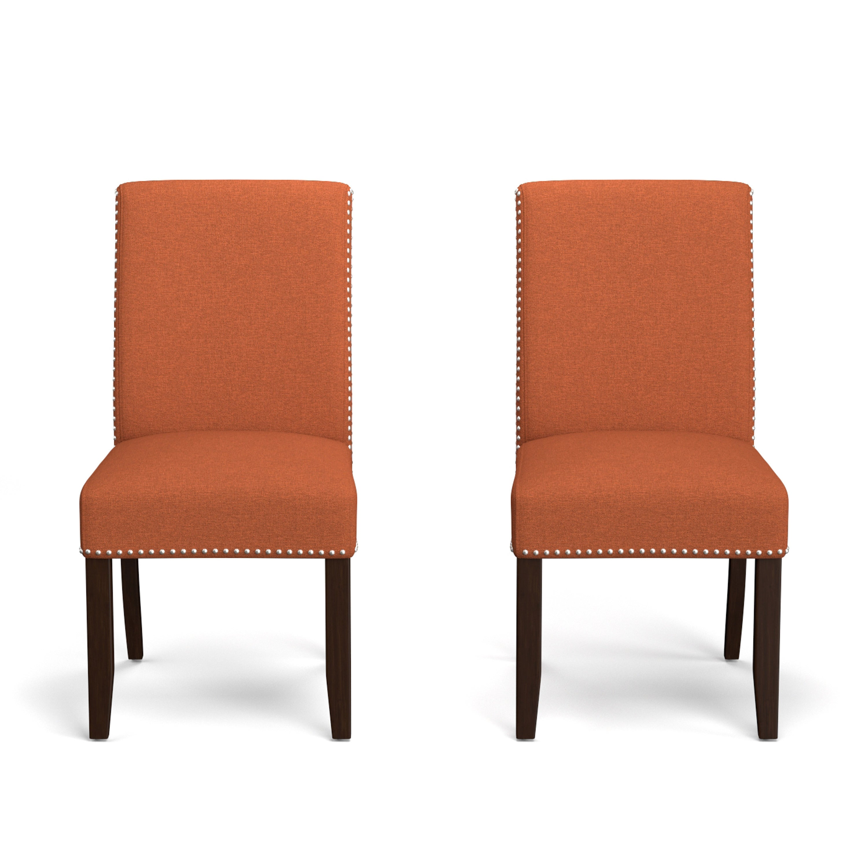 Clay Alder Home Alvord Orange Linen Upholstered Armless Dining Chairs