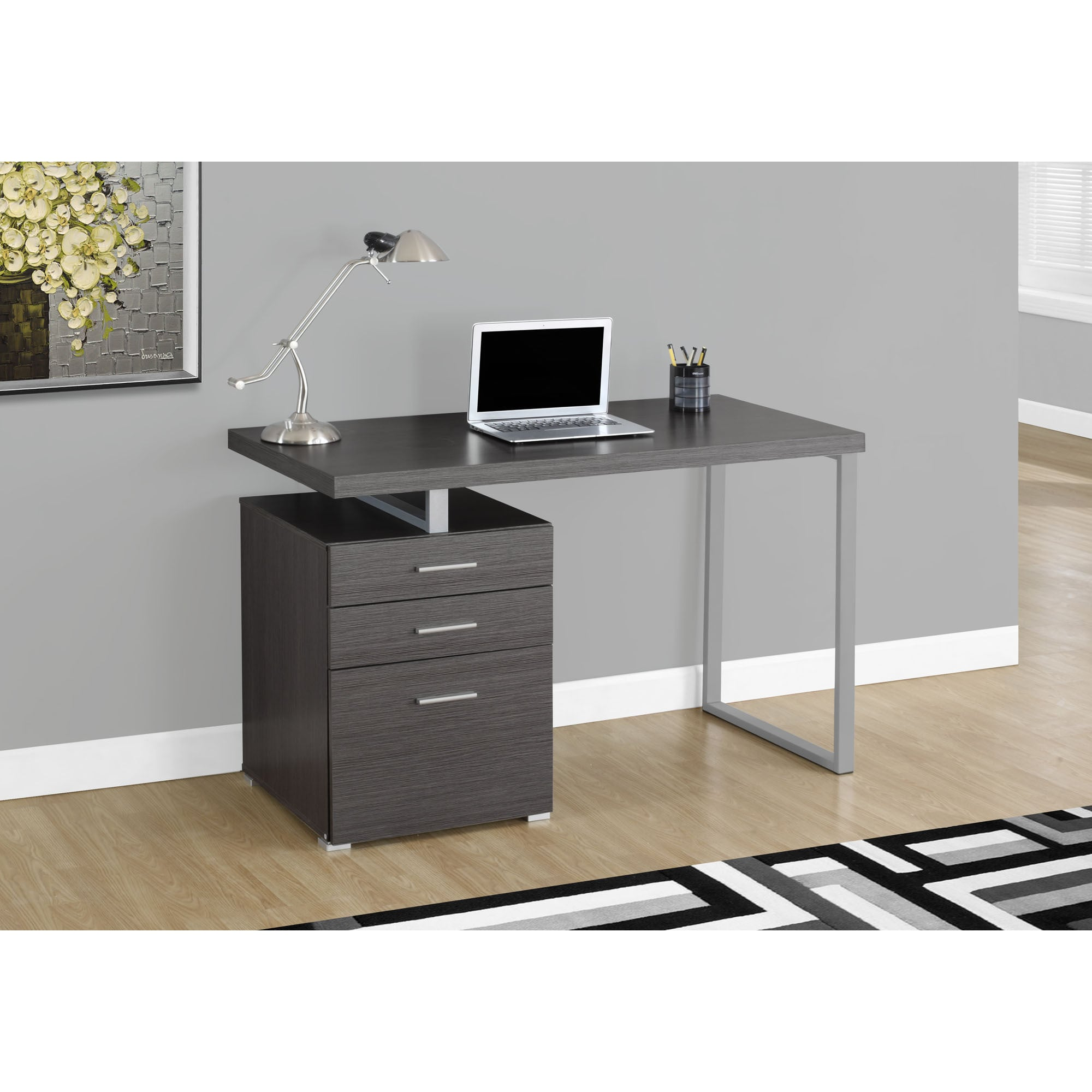 Wondrous Grey 48 Inch Left Or Right Facing Computer Desk Home Interior And Landscaping Dextoversignezvosmurscom