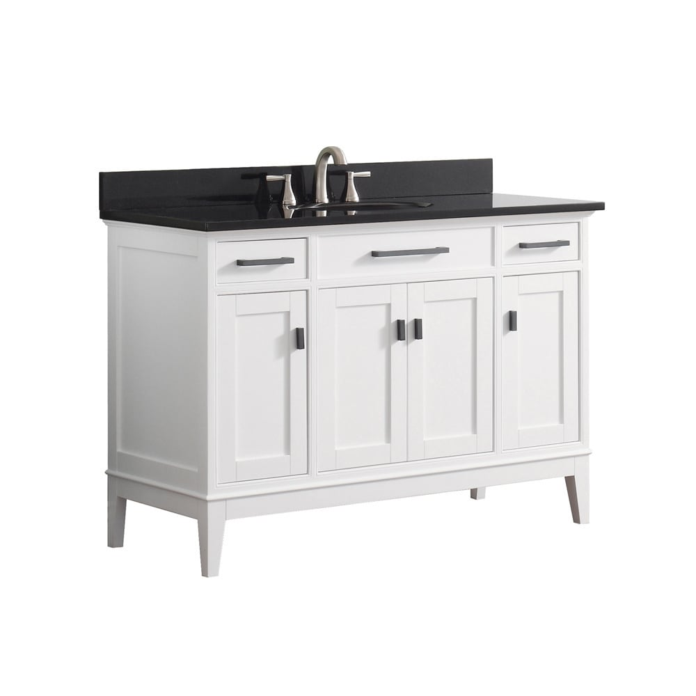 Shop Avanity Madison 49-inch White Vanity Combo - Free Shipping Today - Overstock.com - 10951048