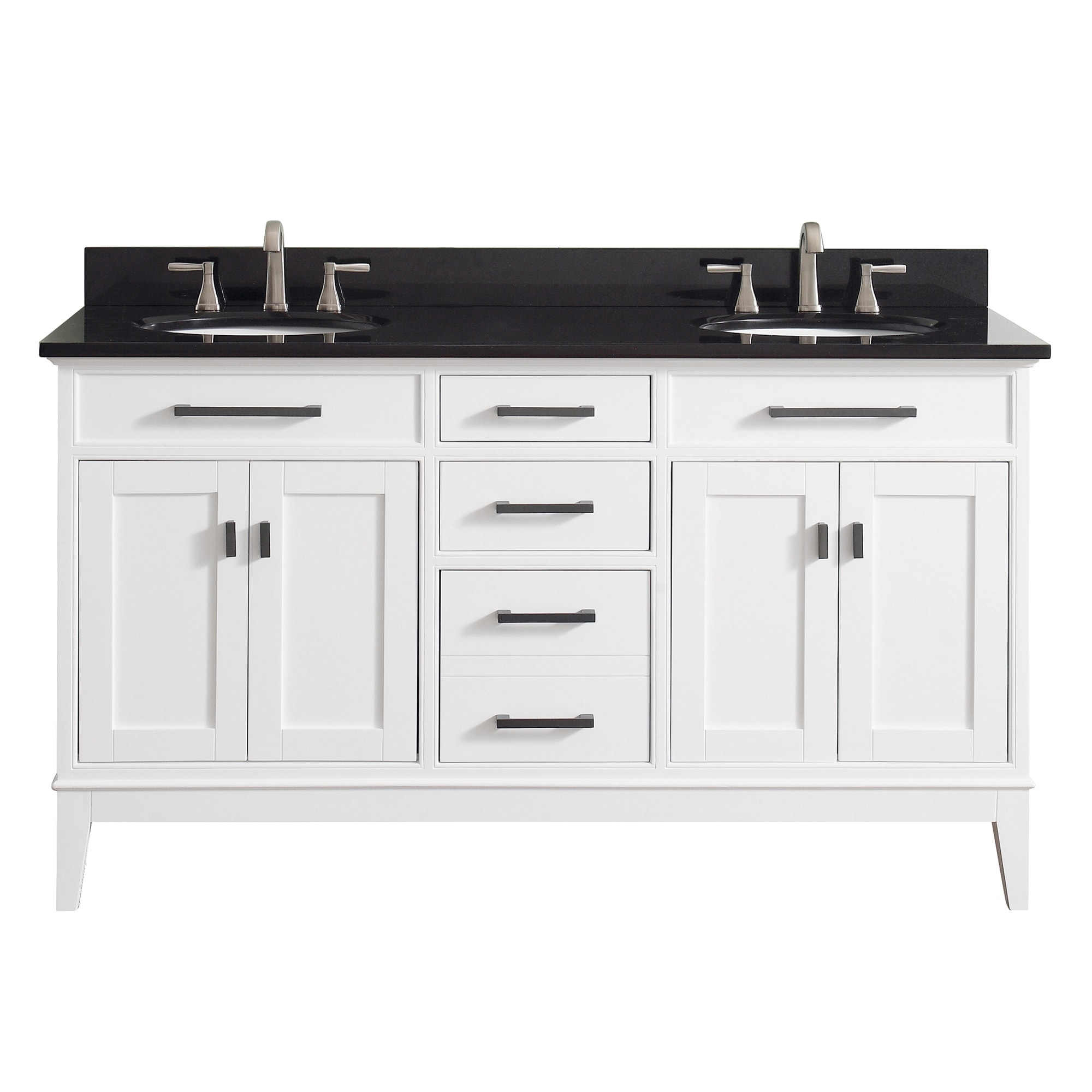 Avanity Madison 61 Inch Double Sink White Finish Vanity Combo   Free  Shipping Today   Overstock   17977345