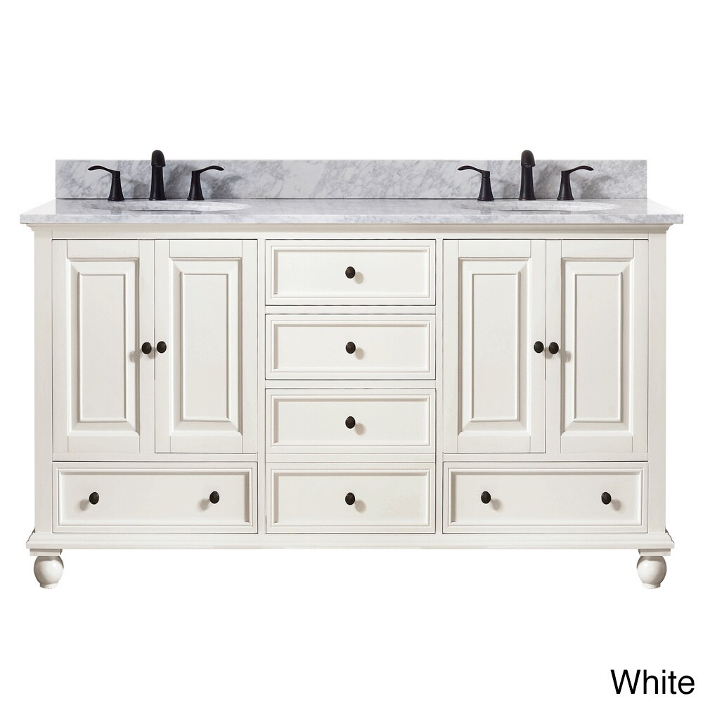 Avanity Thompson 61 Inch Double Sink Vanity Combo In French White Finish Free Shipping Today 10951080