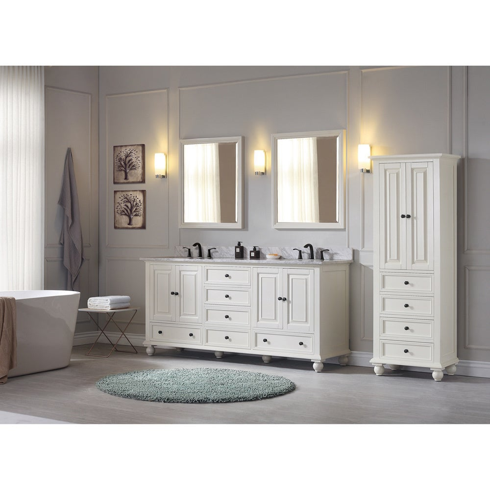 Avanity Thompson 73-inch Double Sink Vanity Combo in French White ...
