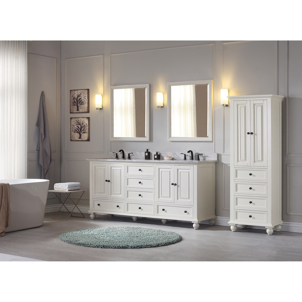 Shop Avanity Thompson 73-inch Double Sink Vanity Combo in French ...