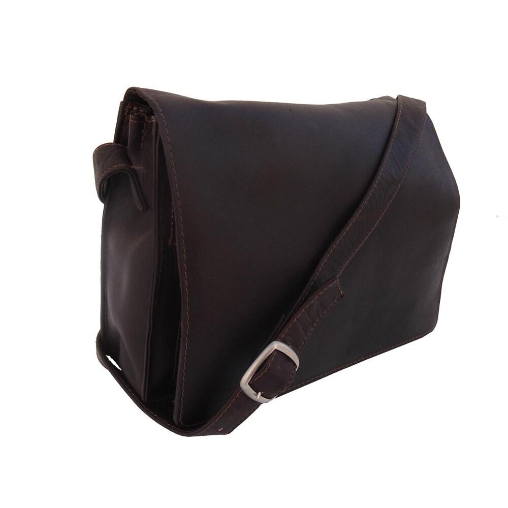 3505a86a263 Piel Leather Small Handbag with Organizer