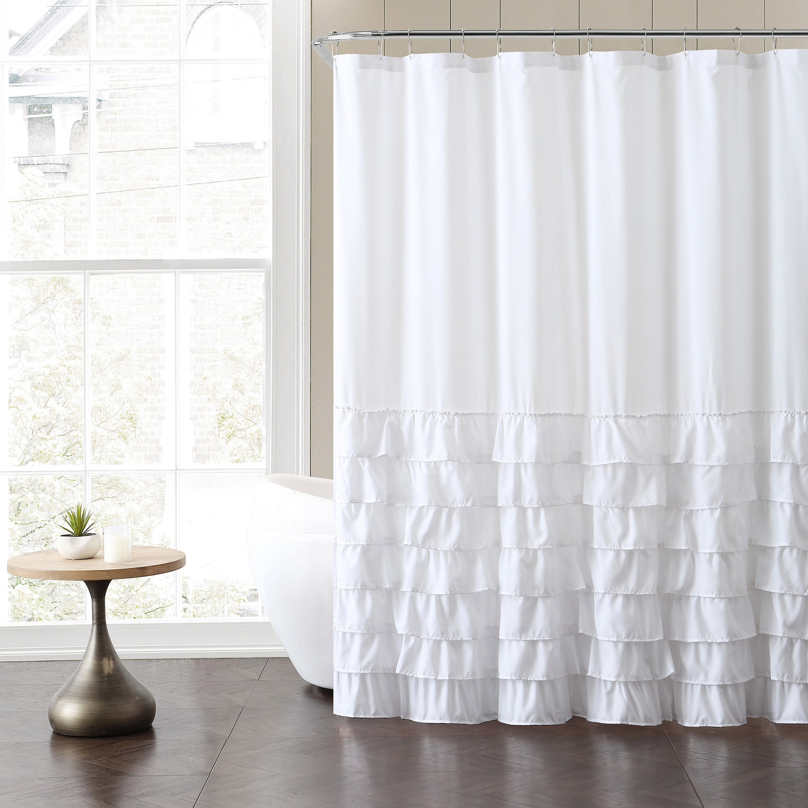 VCNY Melanie Ruffle Shower Curtain - Free Shipping On Orders Over ...