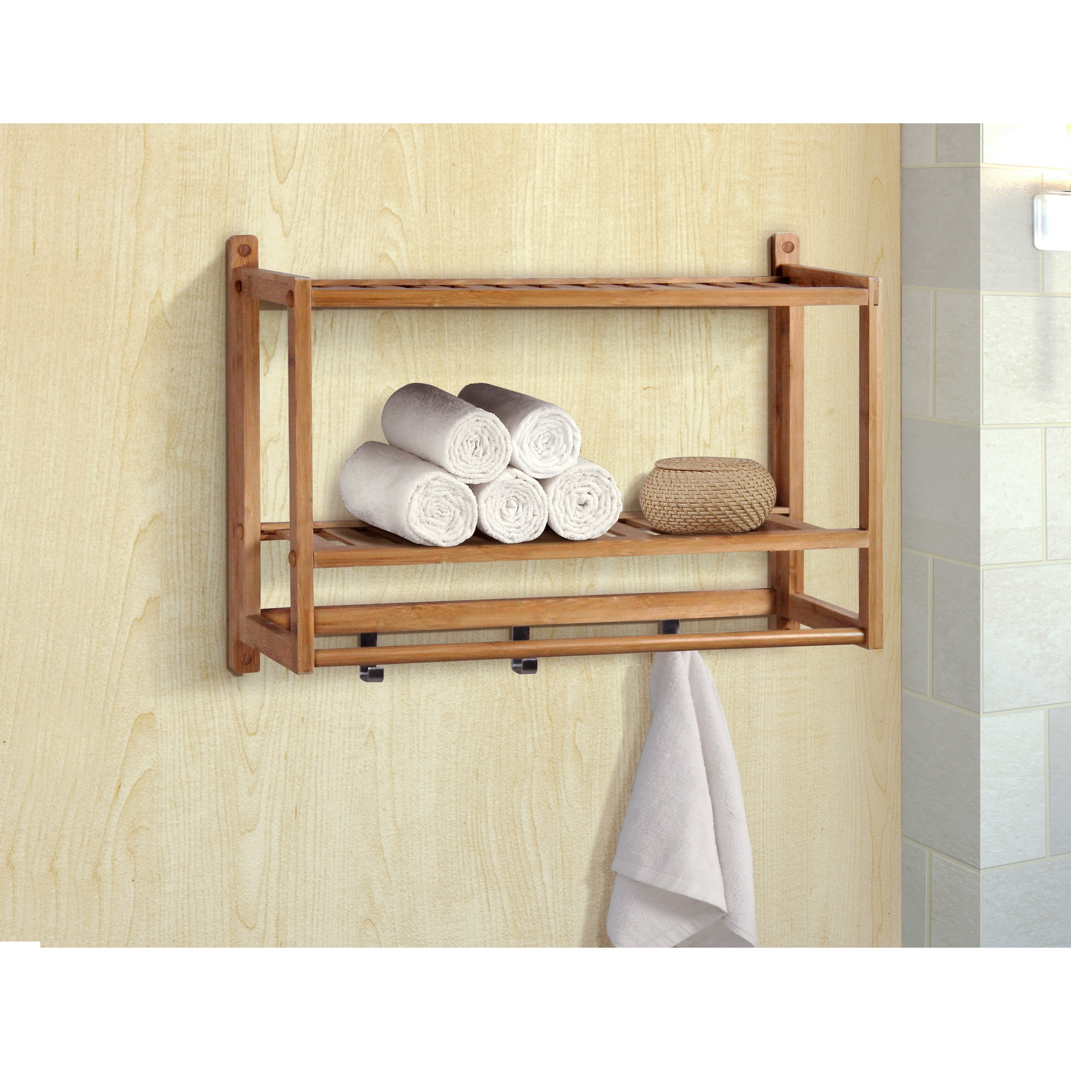 Gallerie Decor Natural Spa Bamboo Wall Organizer - Free Shipping ...