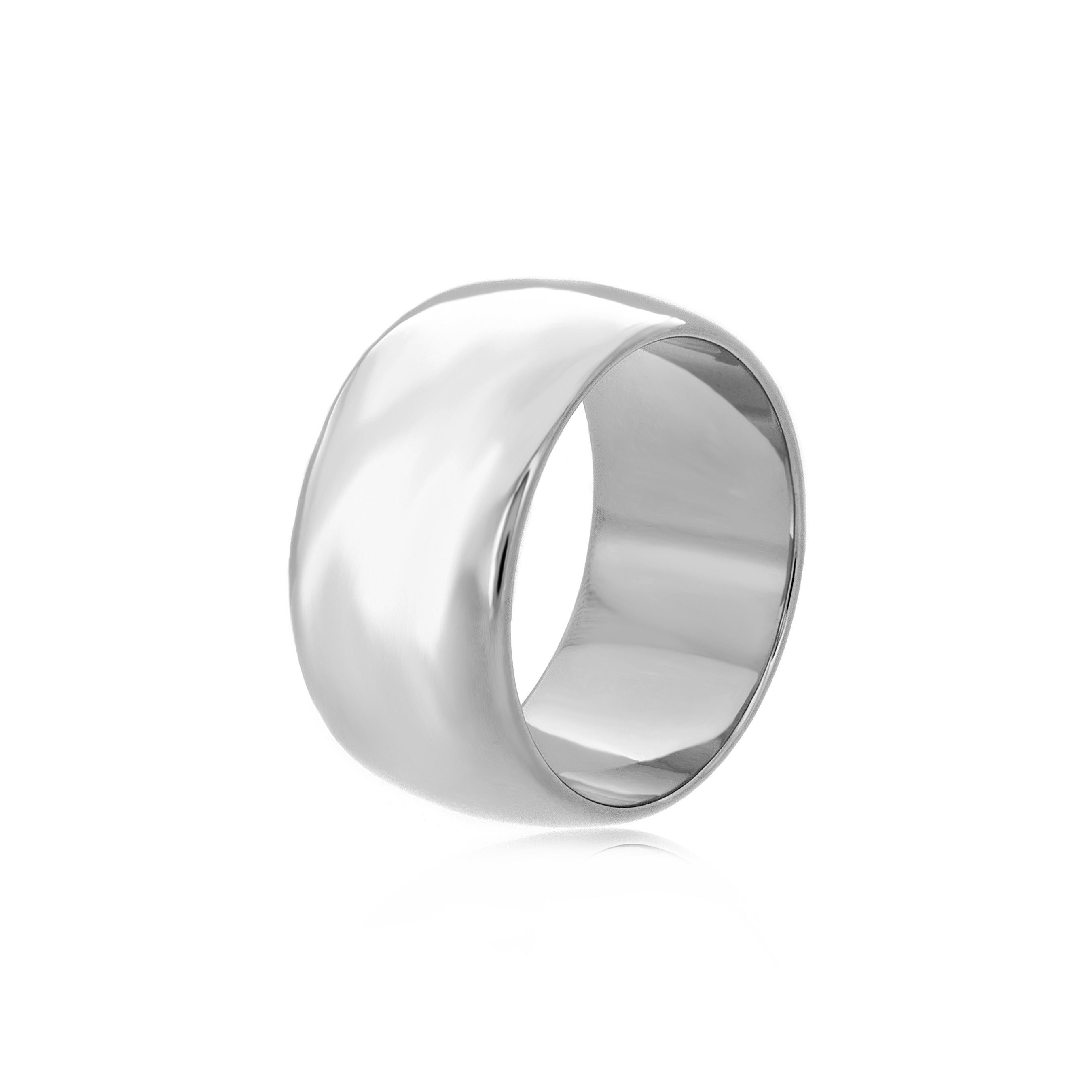 Shop Roberto Martinez Silver Polished 11mm Wedding Band Free Shipping Today Overstock 10952395: 11 Mm Wedding Bands At Reisefeber.org