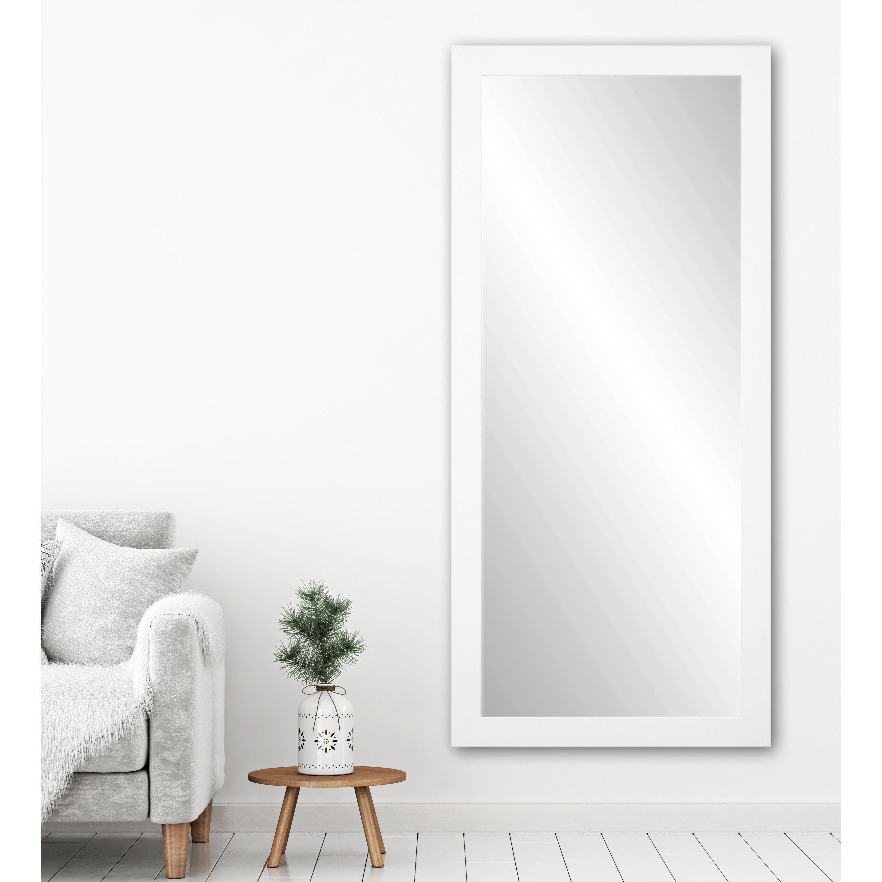 Beau Shop BrandtWorks USA White 32 X 71 Inch Floor Mirror   Free Shipping Today    Overstock   10952847