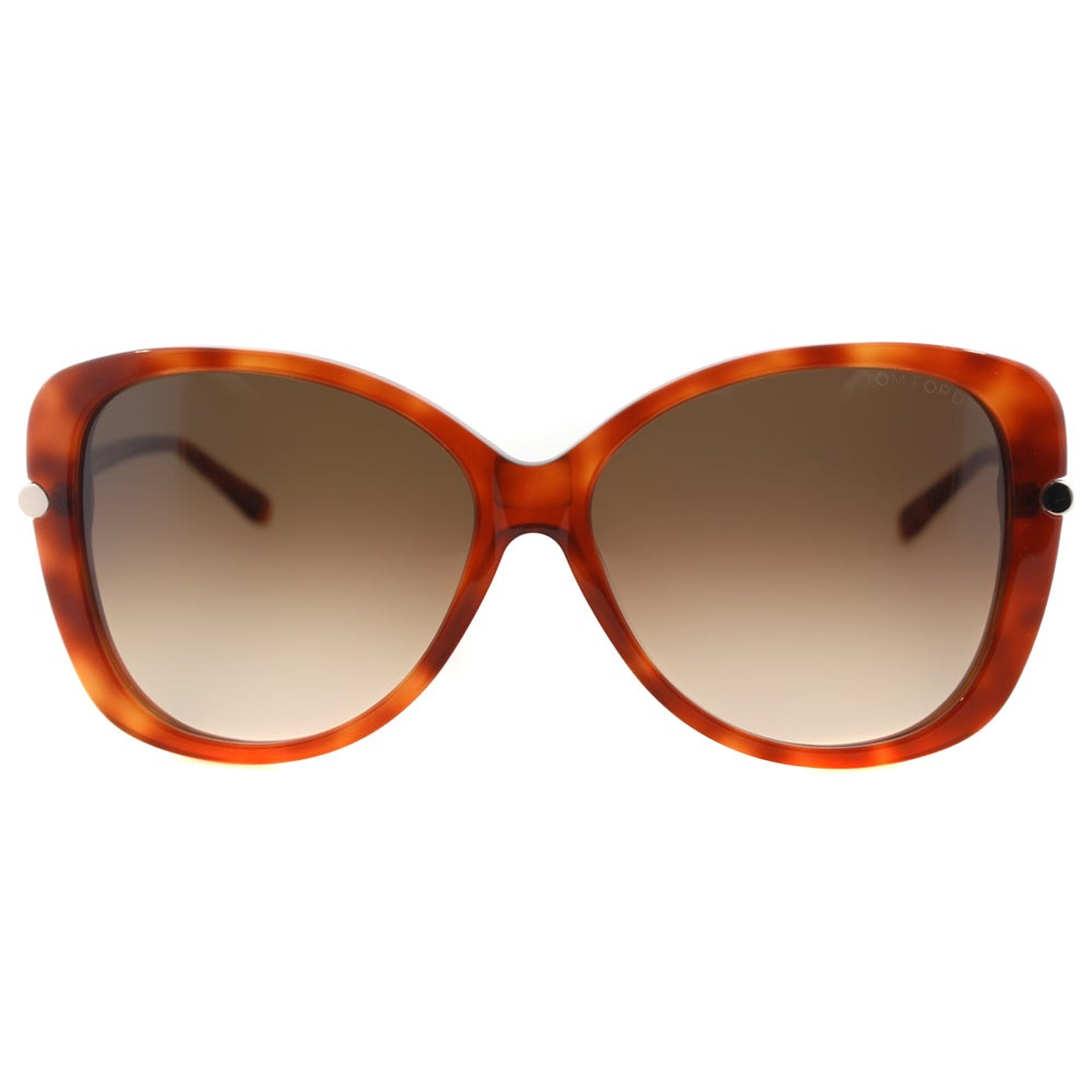 358f0967b4e Tom Ford Women s TF 324 Linda 56F Havana Plastic Butterfly Sunglasses