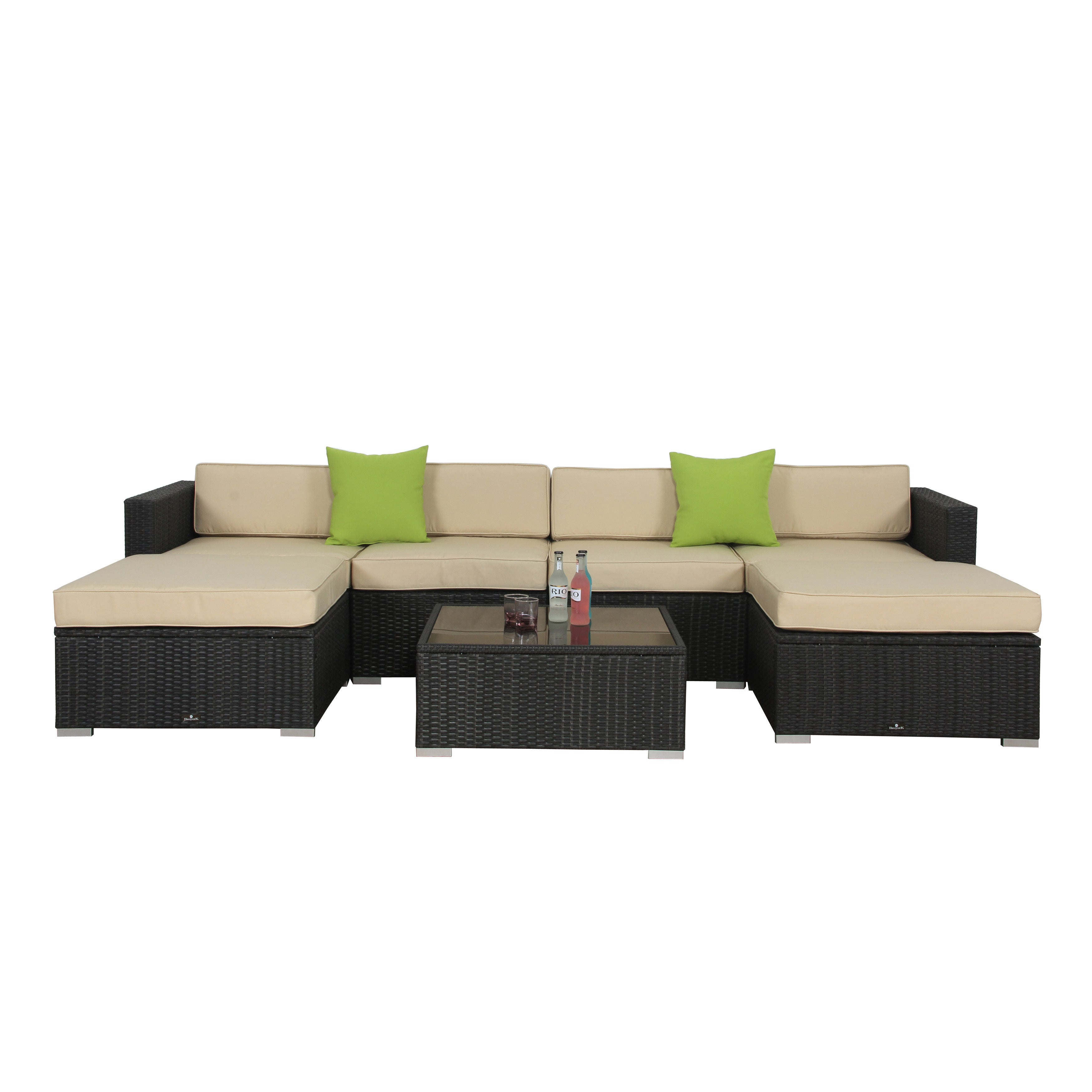 broyerk home patio outdoor overstock df rattan today furniture beige free shipping set product garden piece