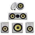 Acoustic Audio HD516 In-Wall/ Ceiling Home Theater Surround 5.1 Speaker System