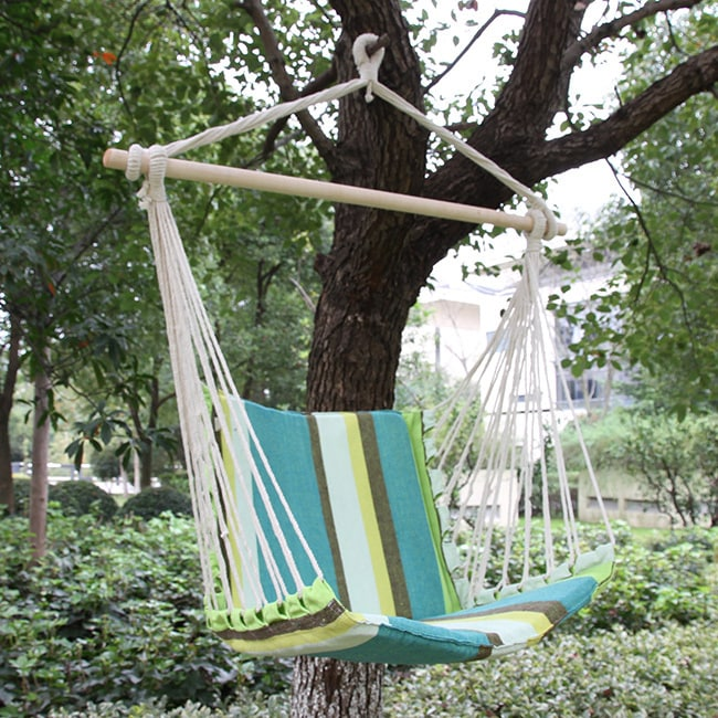 adeco cotton fabric canvas hammock chair tree hanging suspended outdoor indoor   free shipping on orders over  45   overstock     17979265 adeco cotton fabric canvas hammock chair tree hanging suspended      rh   overstock