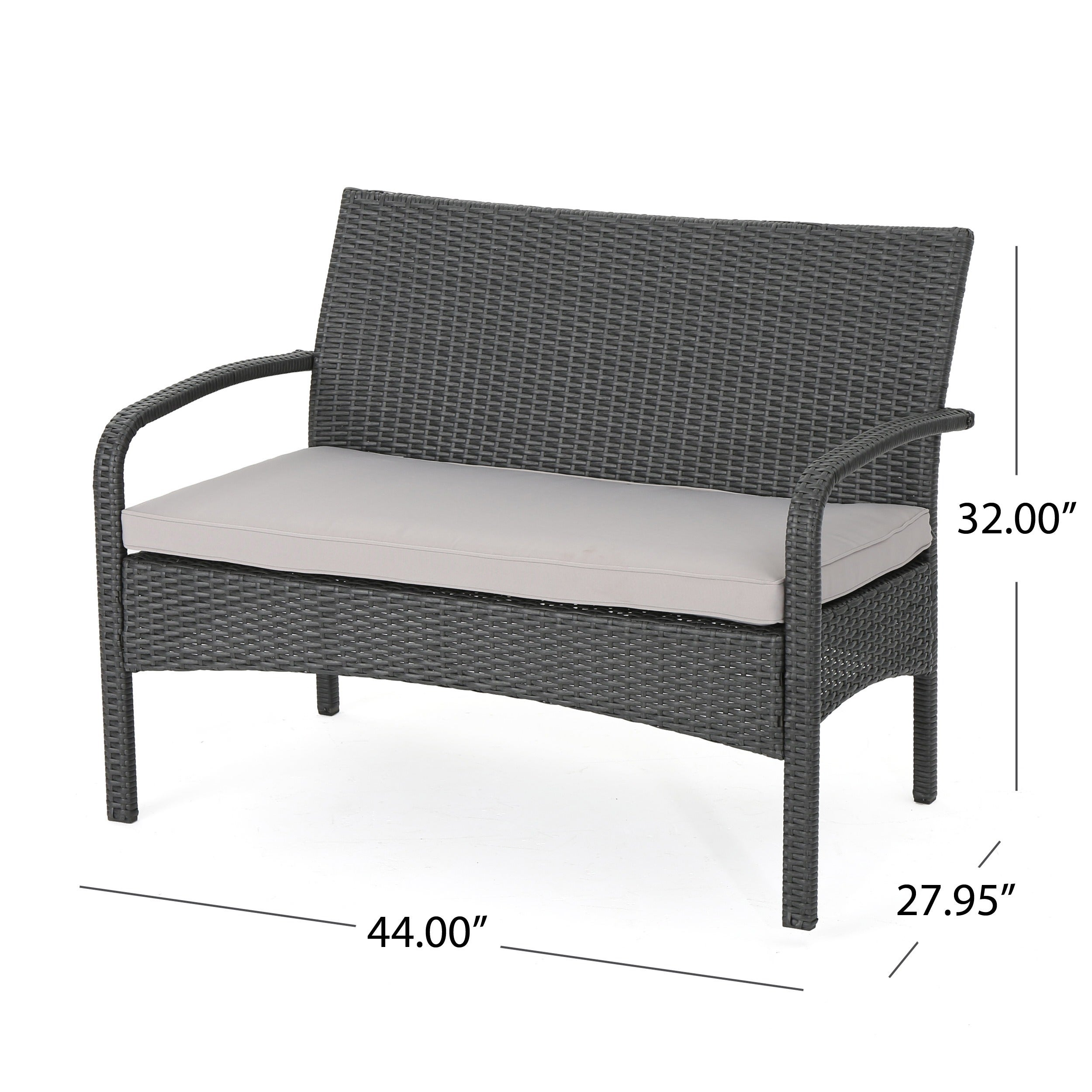Cordoba Outdoor Wicker 4 piece Conversation Set with Cushions by