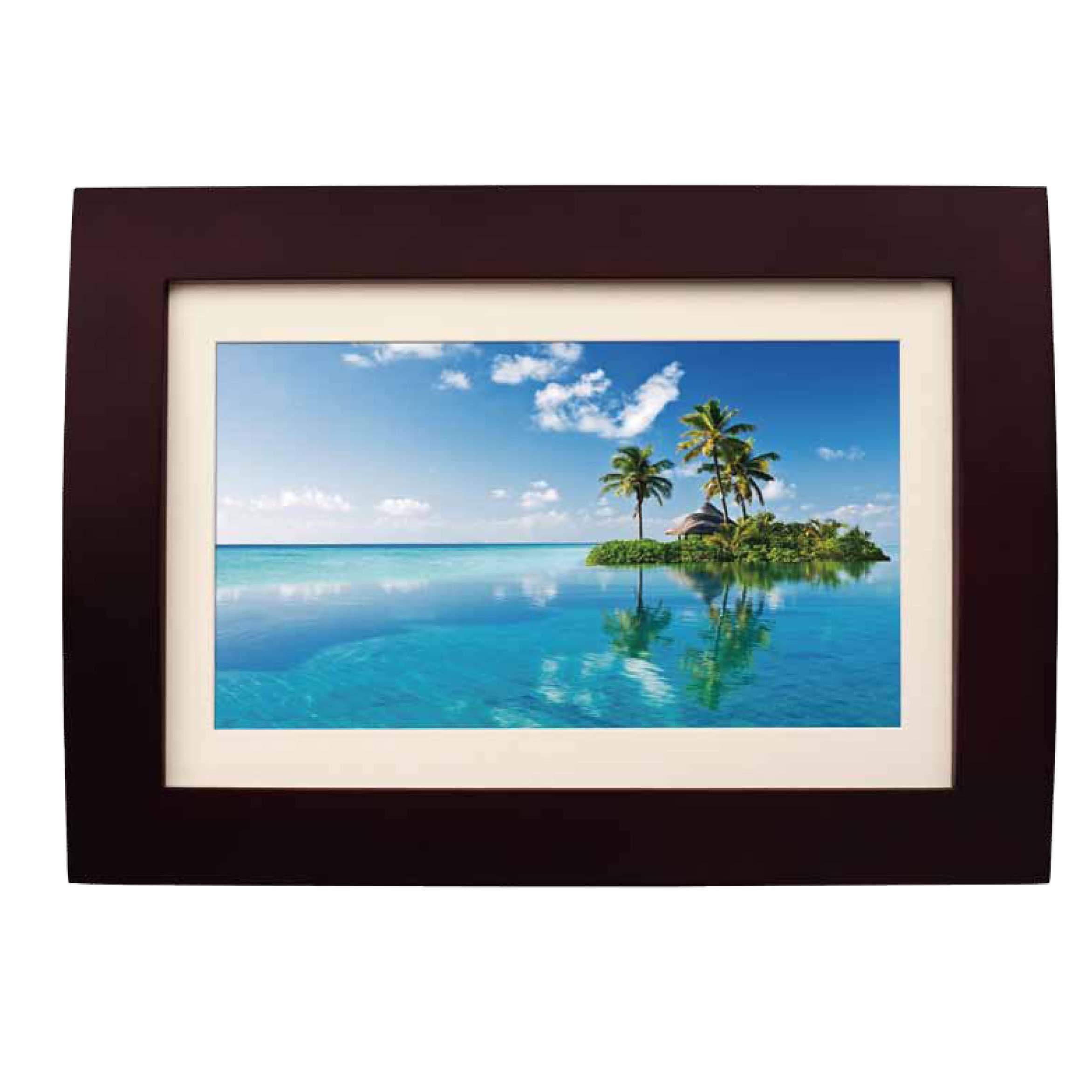 Berühmt Digital Picture Frame Wood Bilder - Benutzerdefinierte ...